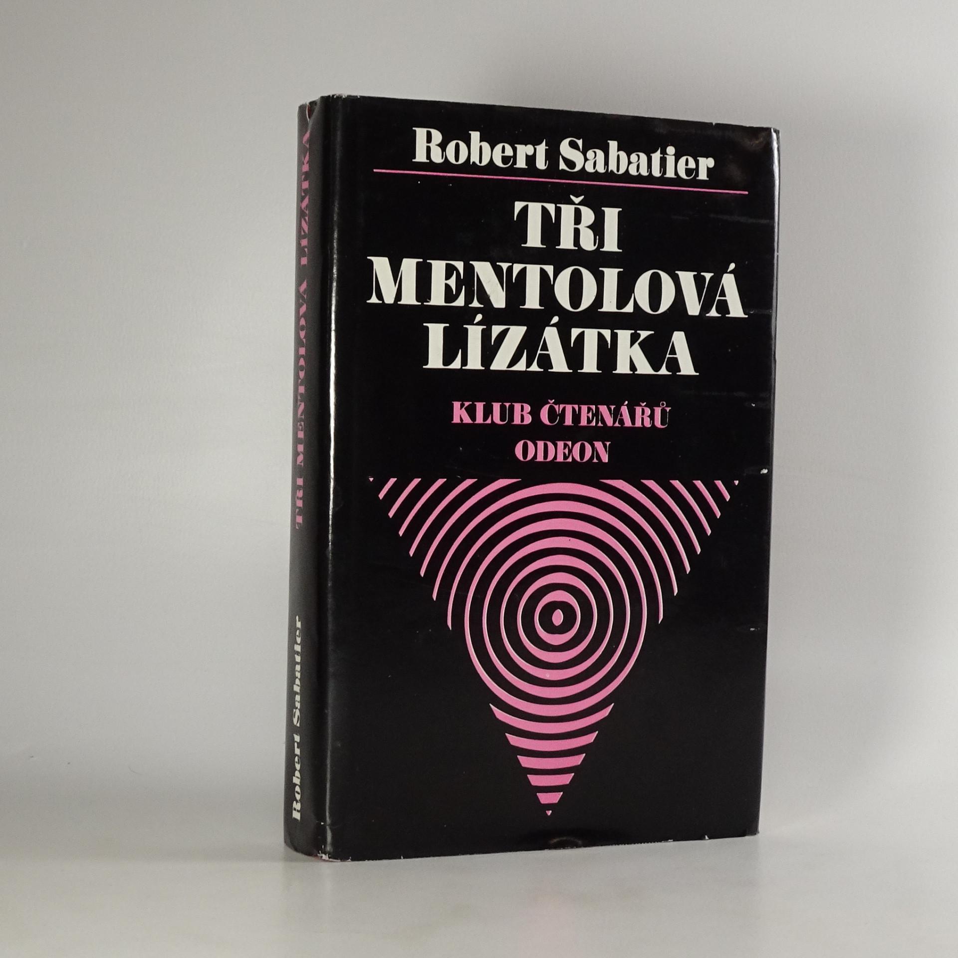 antikvární kniha Tři mentolová lízátka, 1977