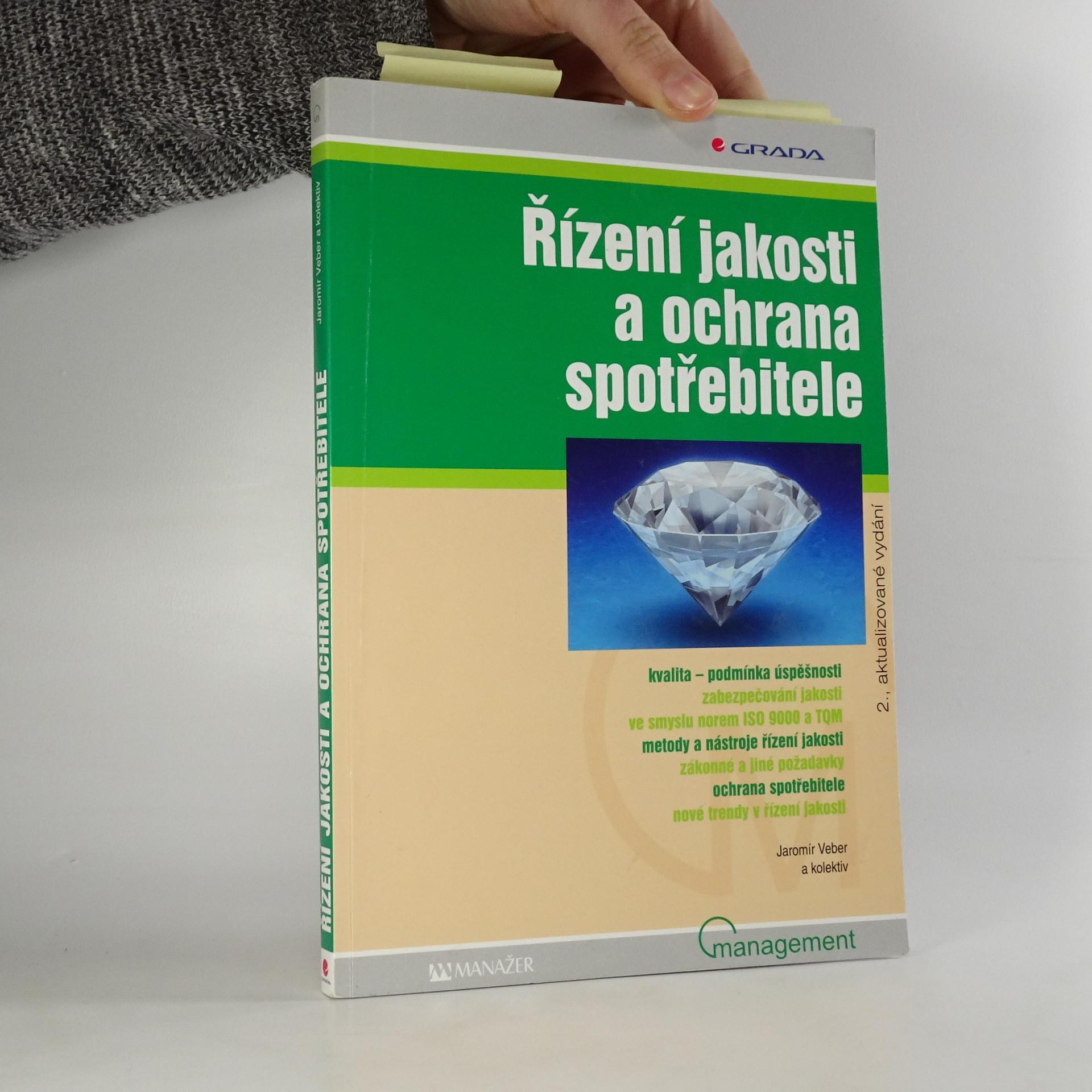 antikvární kniha Řízení jakosti a ochrana spotřebitele, 2007