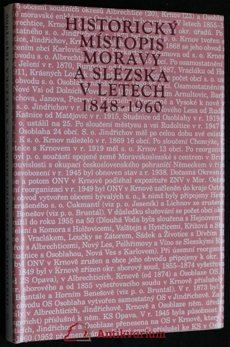 antikvární kniha Historický místopis Moravy a Slezska v letech 1848-1960. Sv. 13, 1994