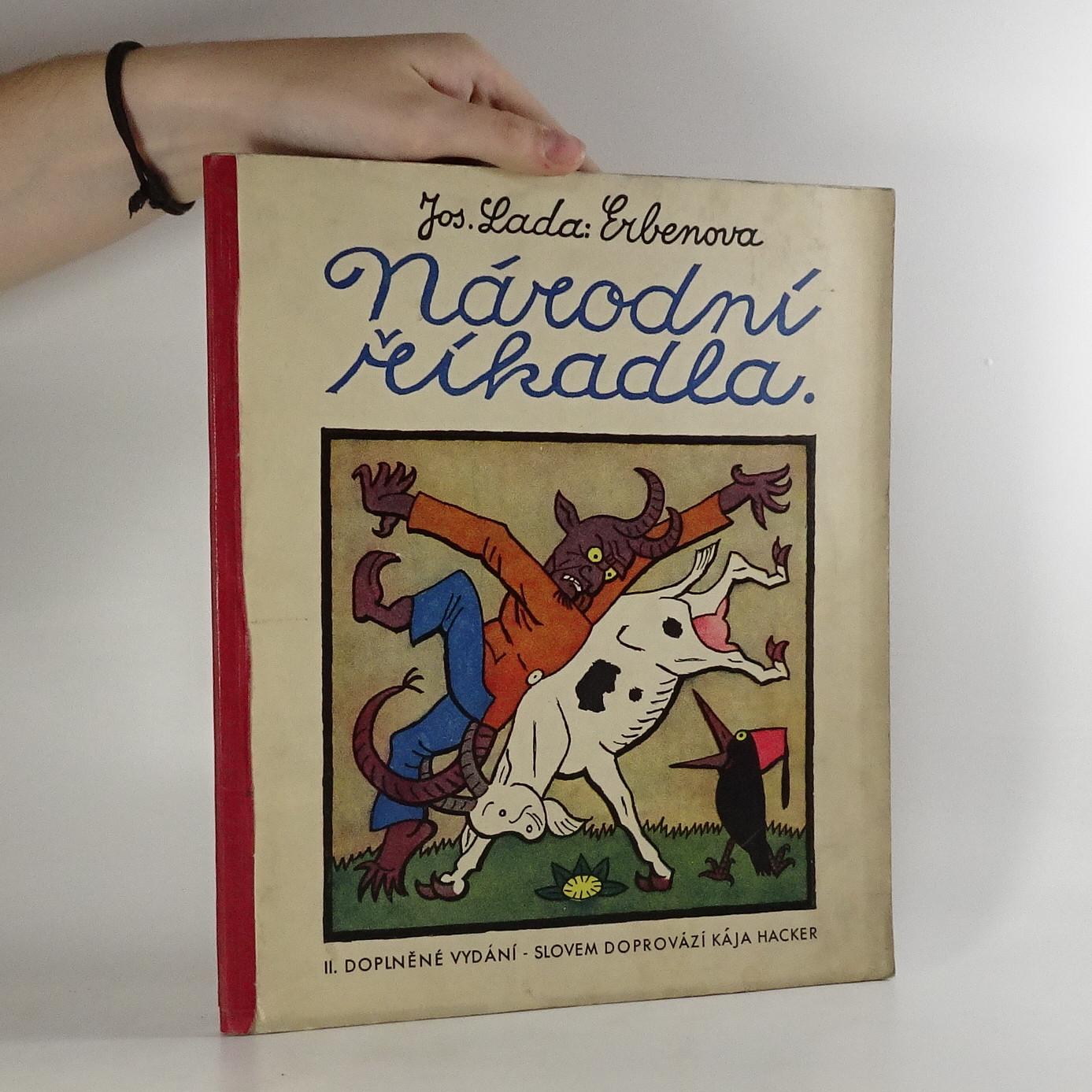 antikvární kniha Erbenova národní říkadla, 1930