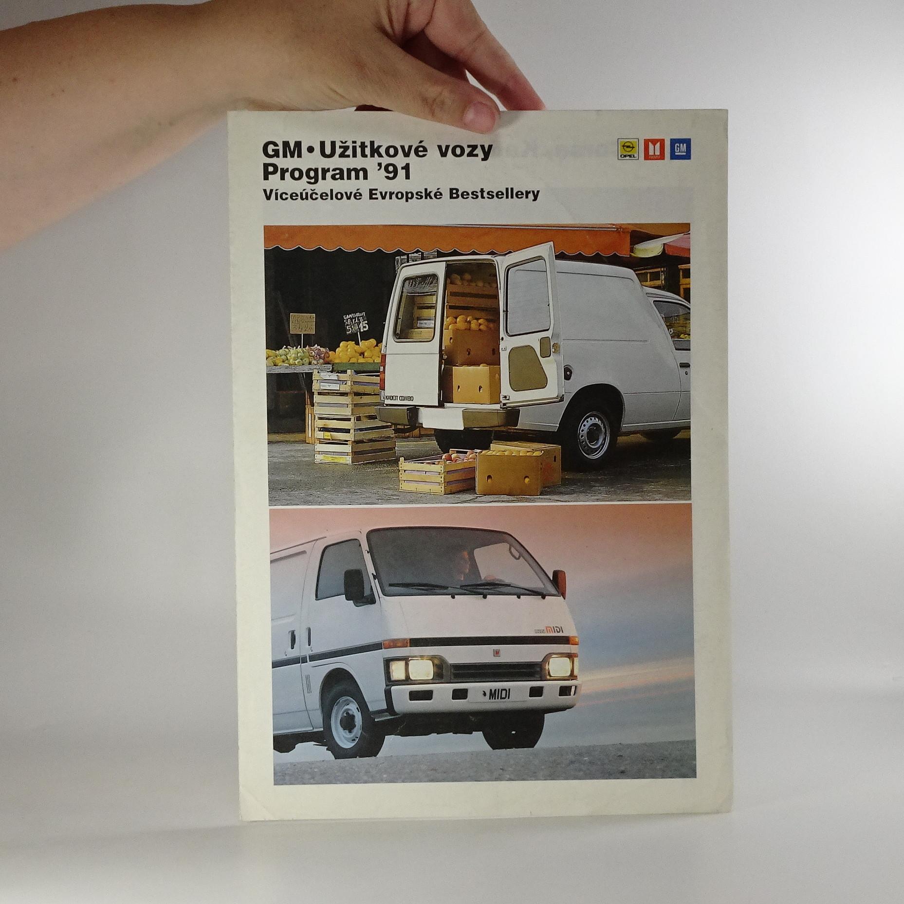 antikvární kniha Prospekt GM - užitkové vozy. Program 91, 1991