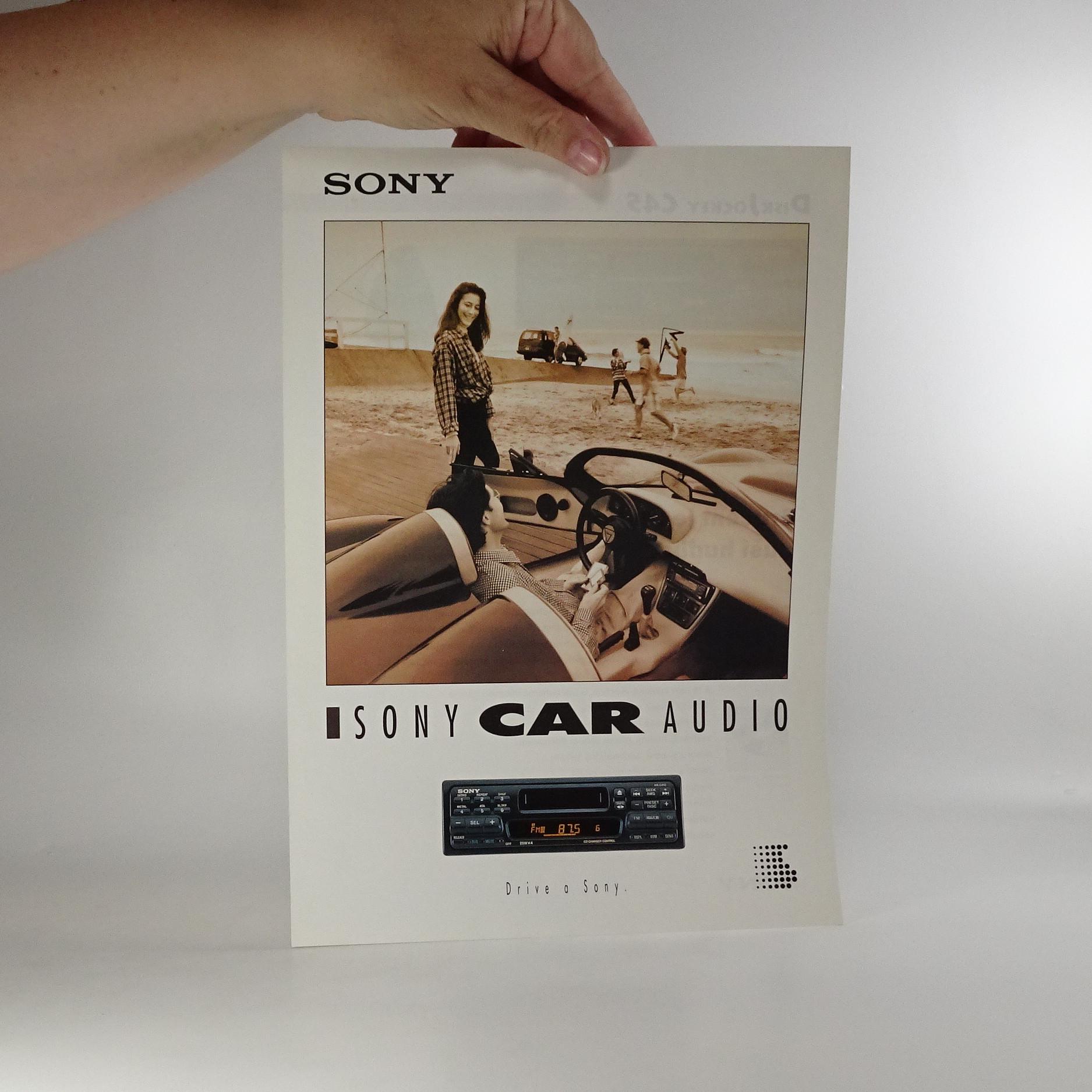 antikvární kniha Prospekt Sony car audio, neuveden
