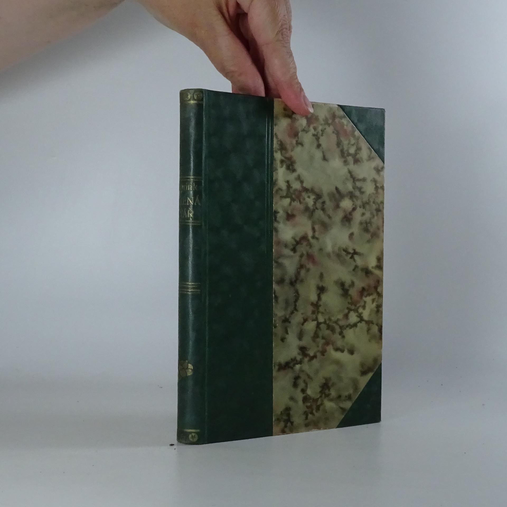 antikvární kniha Zelená tvář. Román, 1925