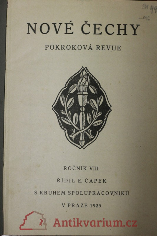 antikvární kniha Nové Čechy : pokroková revue politická, sociální a kulturní, 1925