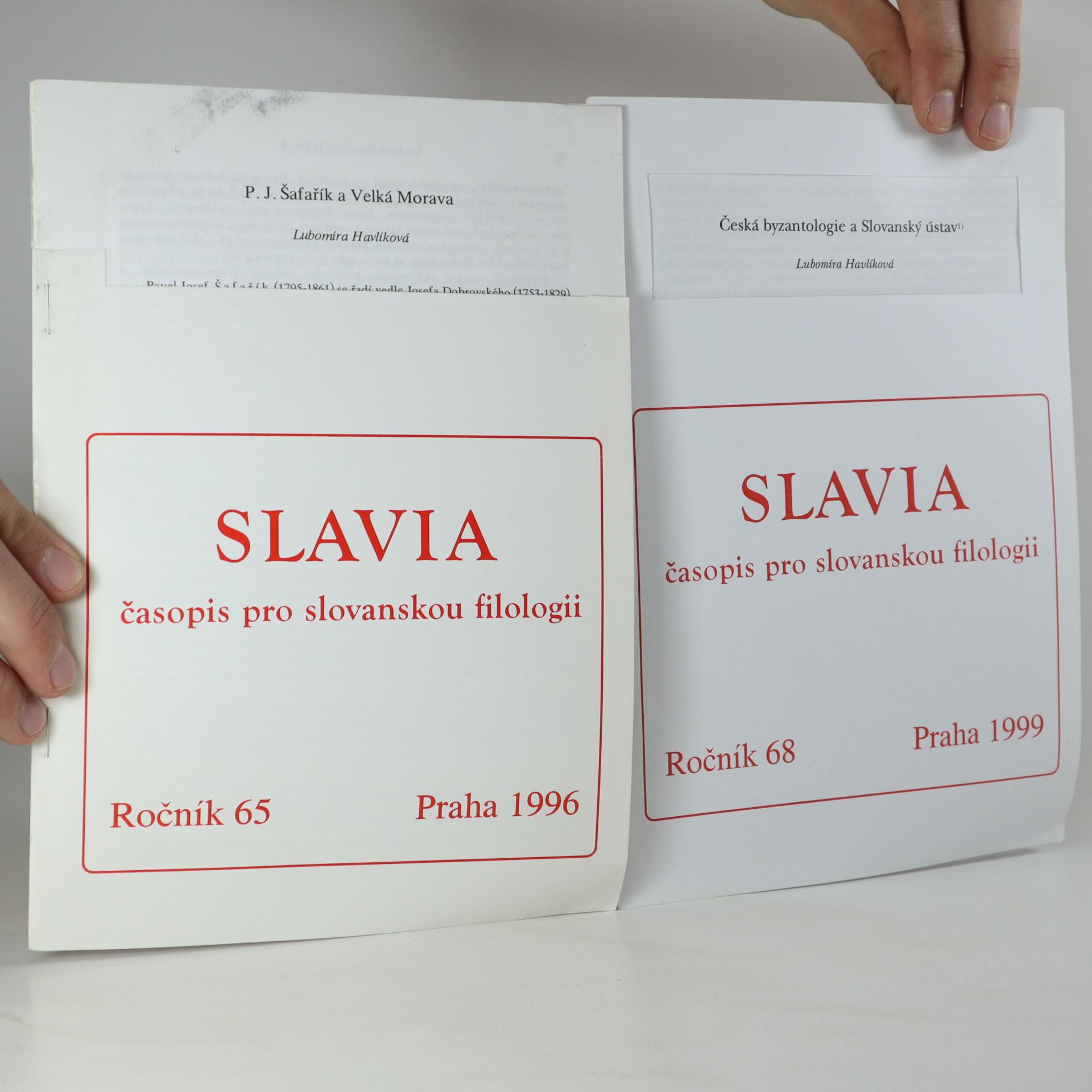antikvární kniha Slavia (ročník 65 a 68), 1996, 1999