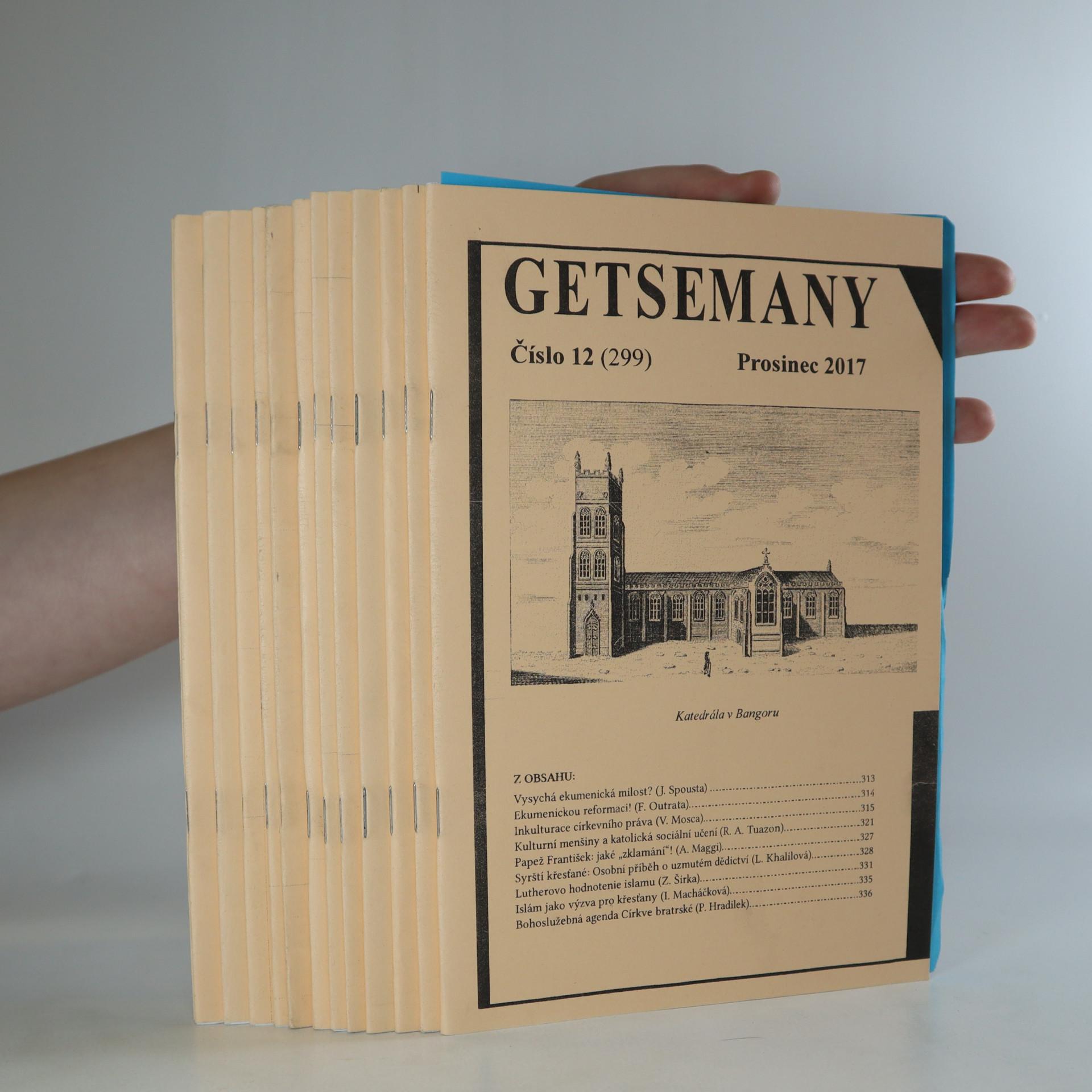 antikvární kniha Getsemany (čísla vypsány v poznámce), 2017-2018
