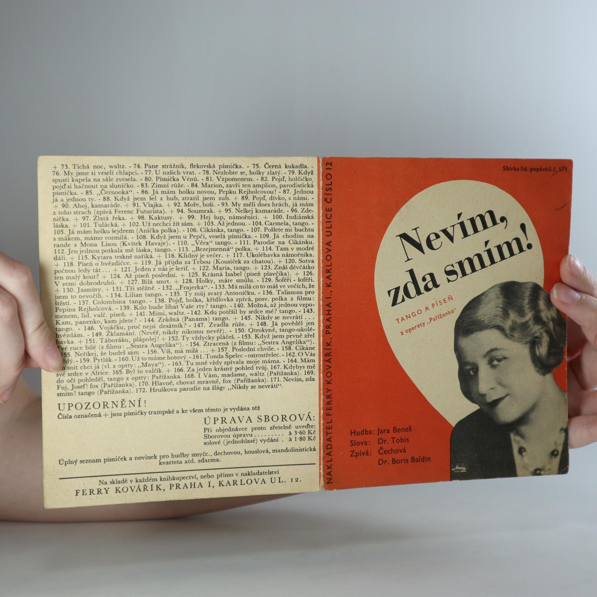 antikvární kniha Nevím, zda smím., 1933