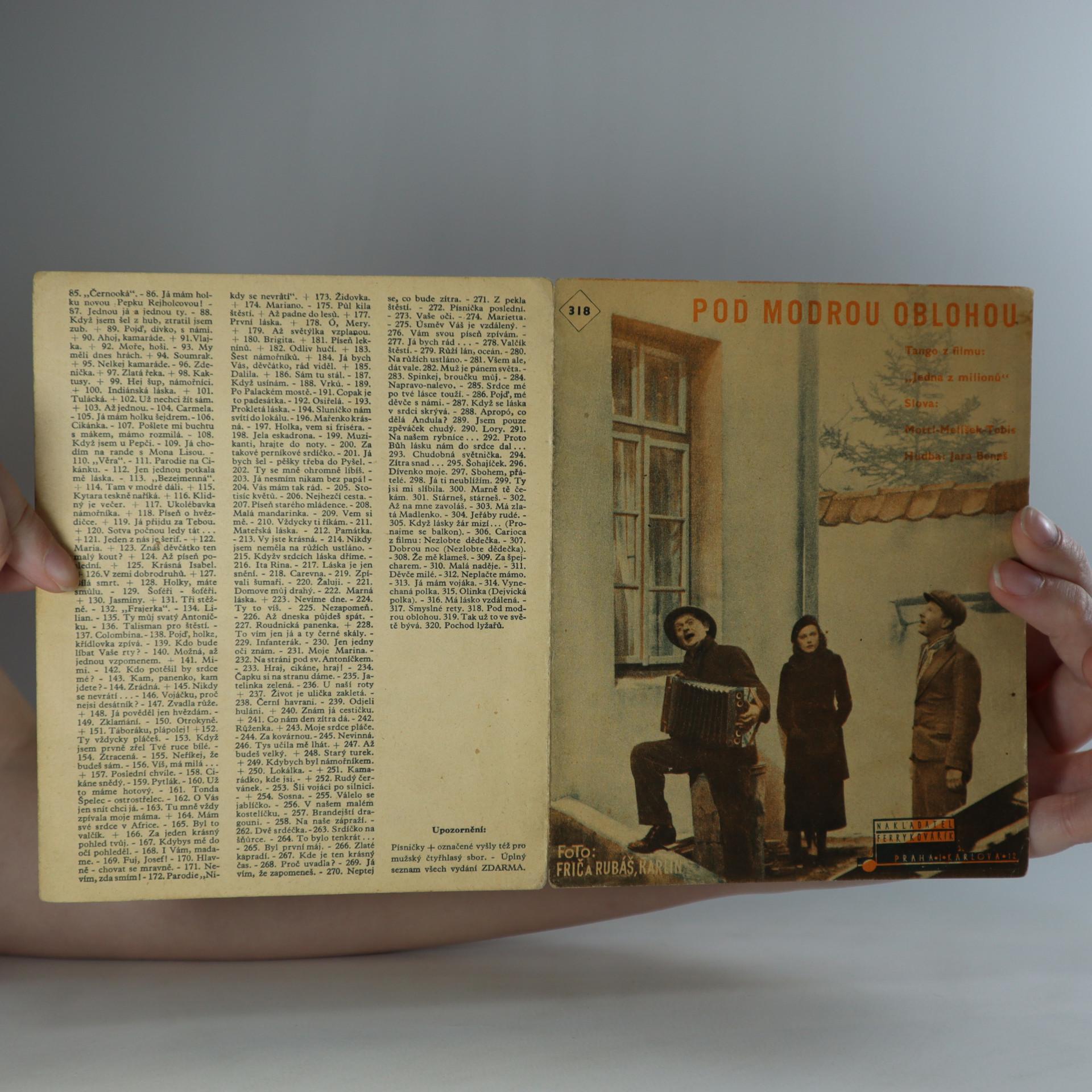 antikvární kniha Pod modrou oblohou, 1935