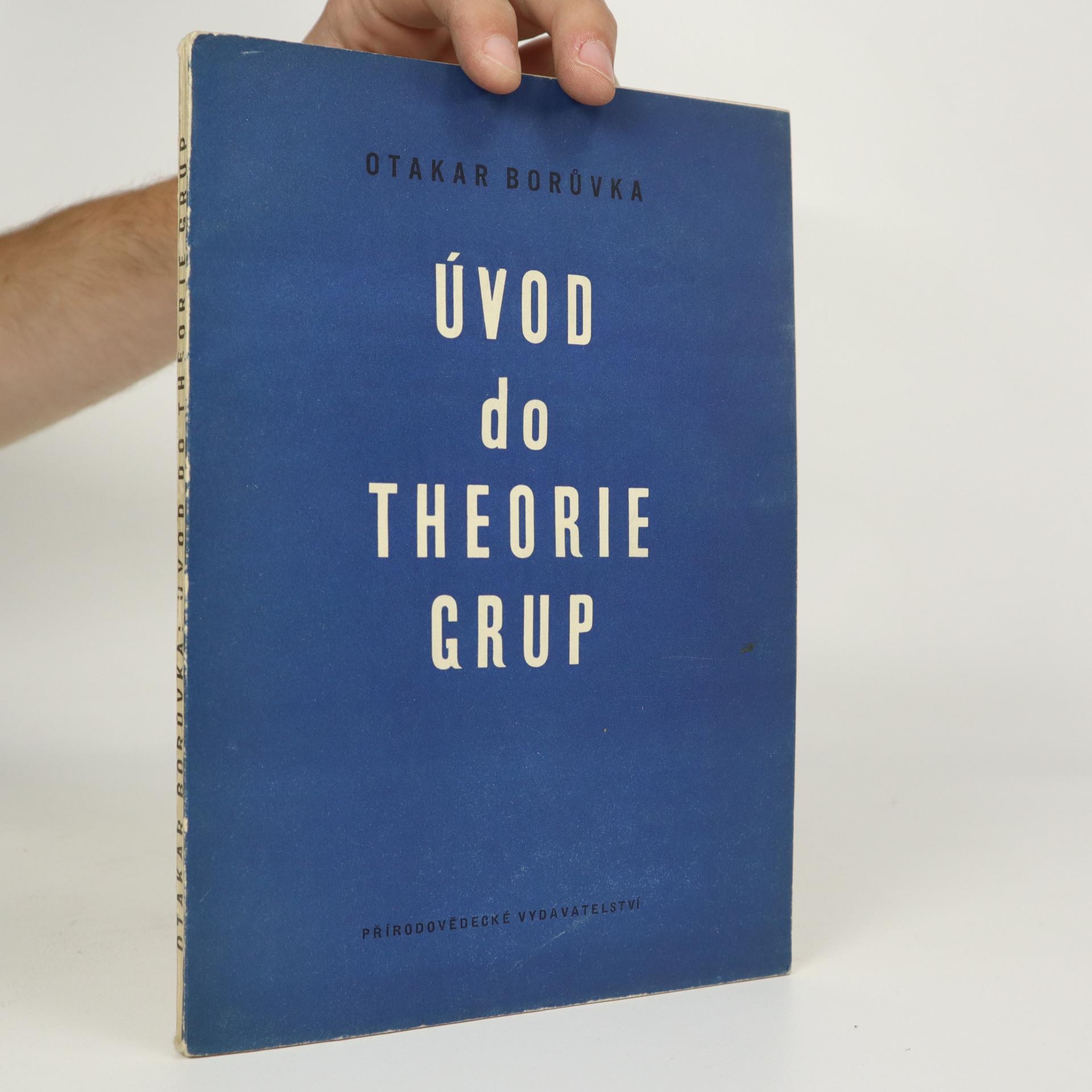 antikvární kniha Úvod do theorie grup, 1952