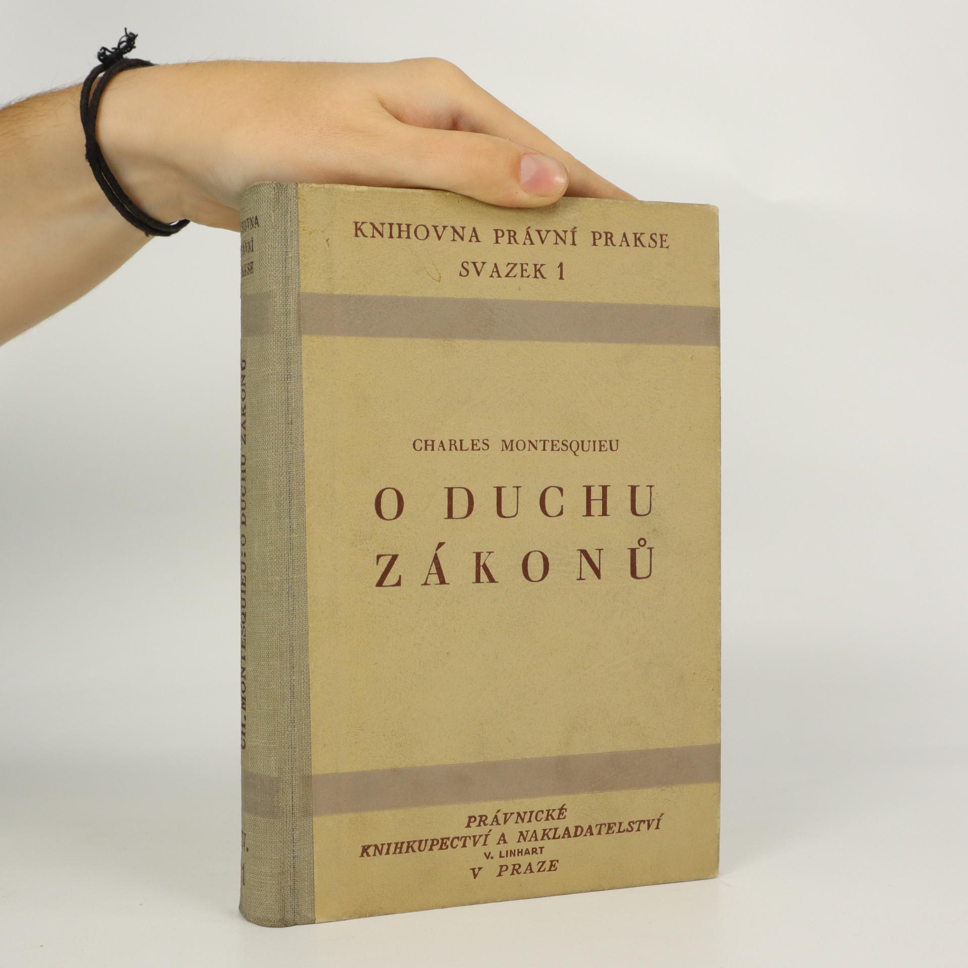 antikvární kniha O duchu zákonů, 1947