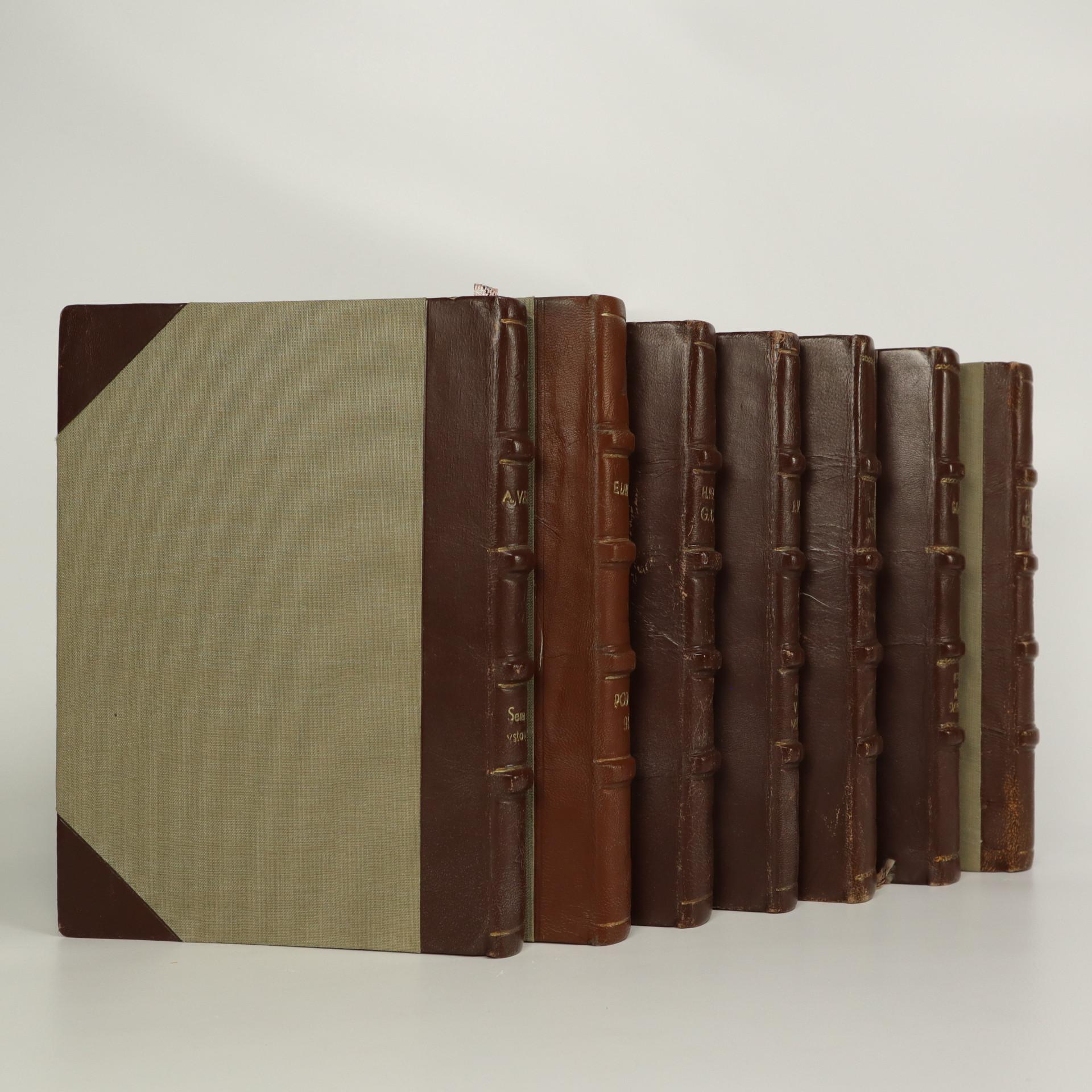 antikvární kniha Sedm knih nakladatelství Máj vázaných v kůži (vypsáno v poznámce), 1948