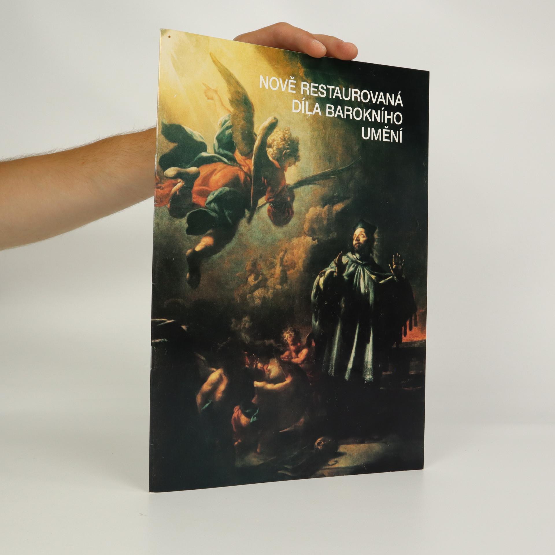 antikvární kniha Nově restaurovaná díla barokního umění, neuveden