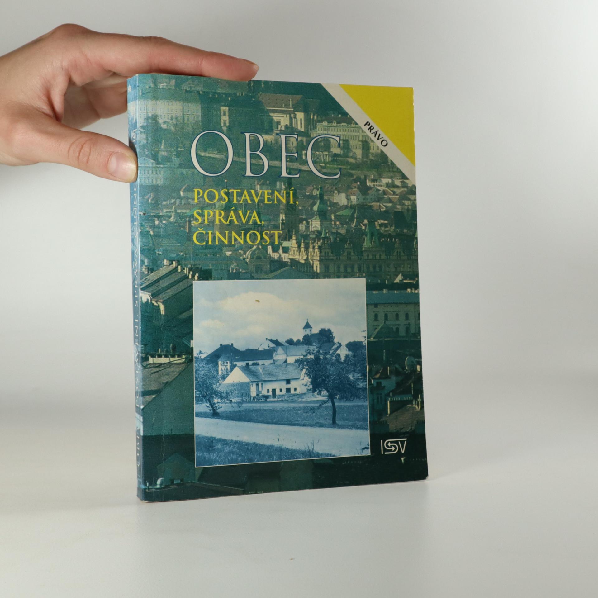 antikvární kniha Obec. Postavení, správa, činnost., 1996