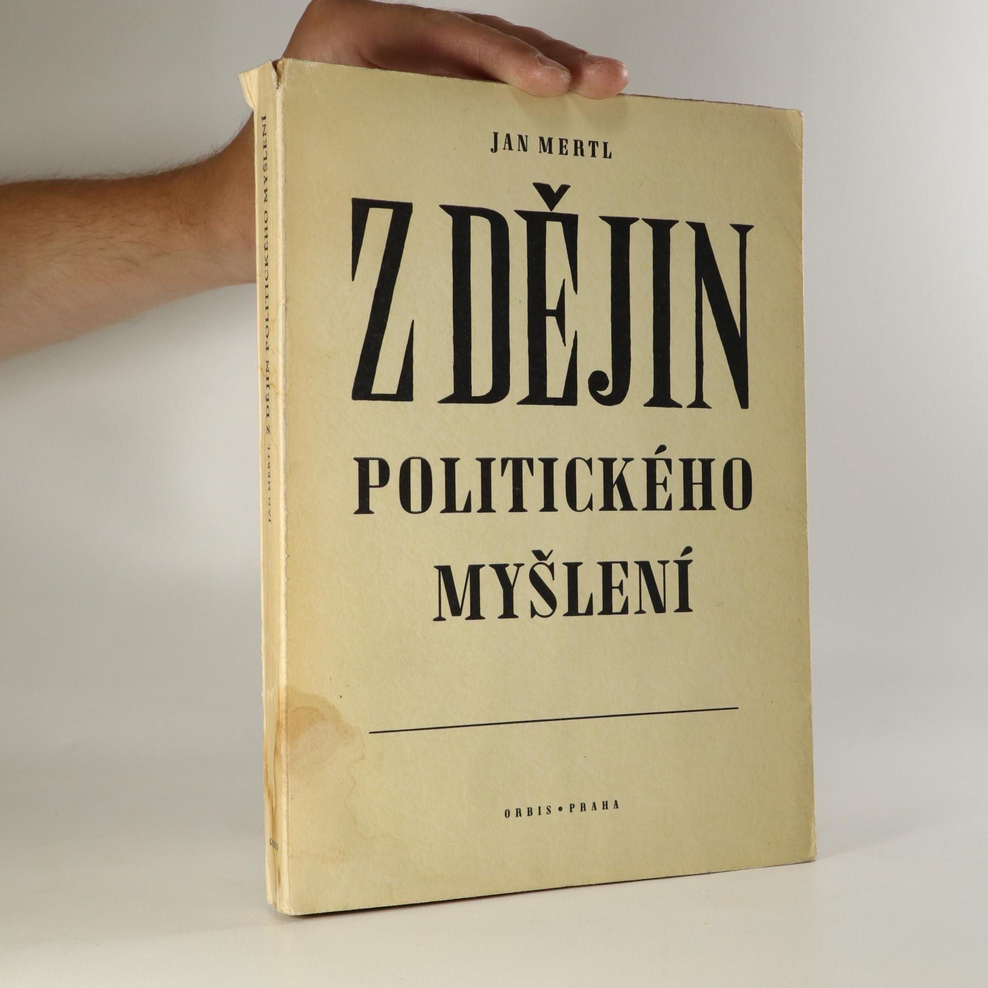 antikvární kniha Z dějin politického myšlení, 1943