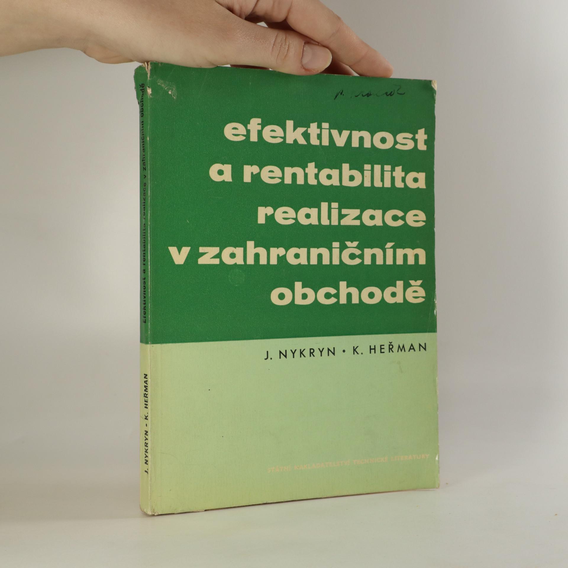 antikvární kniha Efektivnost a rentabilita realizace v zahraničním obchodě, 1962