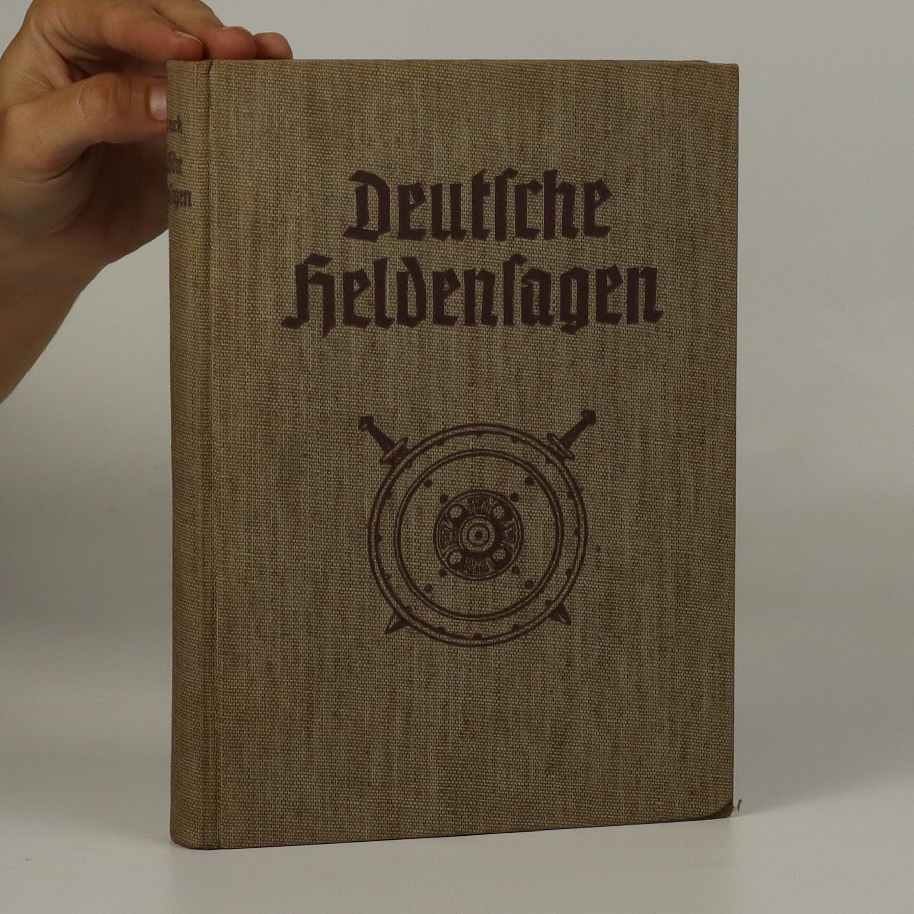 antikvární kniha Deutsche Heldensagen, neuveden