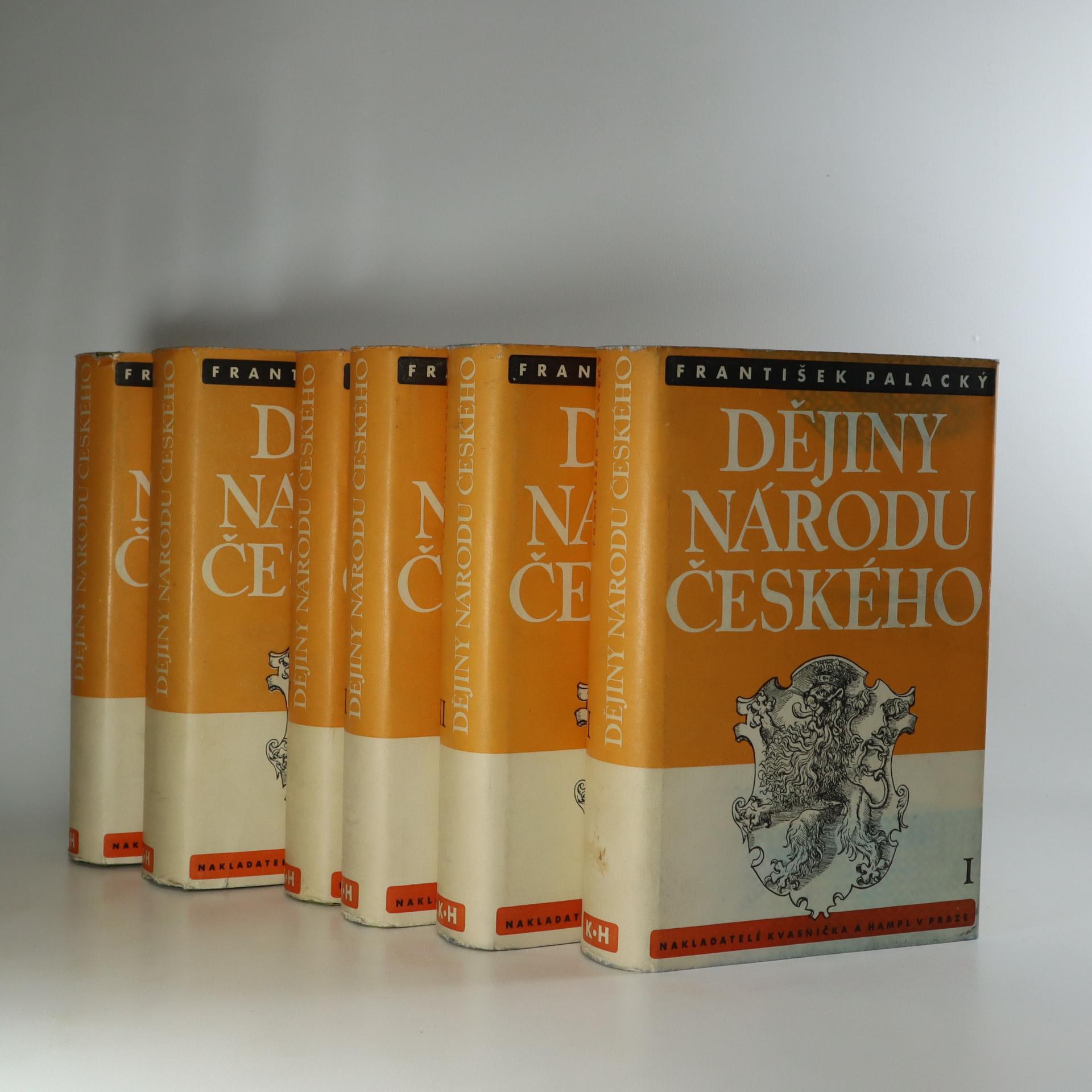 antikvární kniha Dějiny národu českého. 1.-6. díl. (6 svazků). , 1939