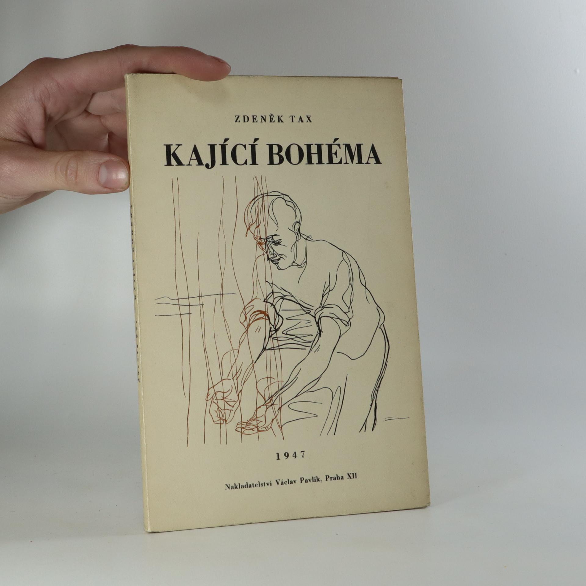 antikvární kniha Kající bohéma, 1947