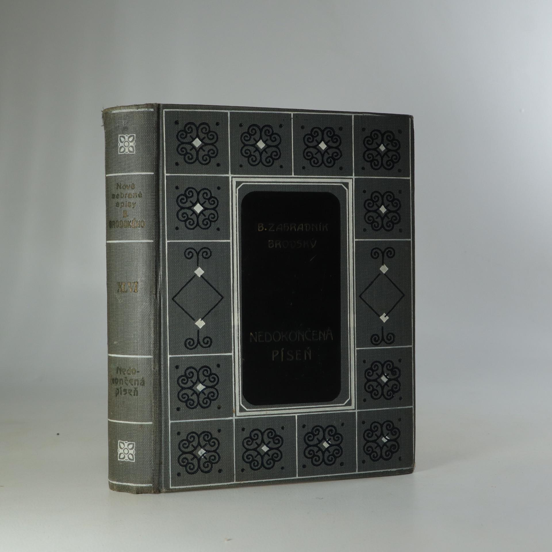 antikvární kniha Nedokončená píseň, 1926