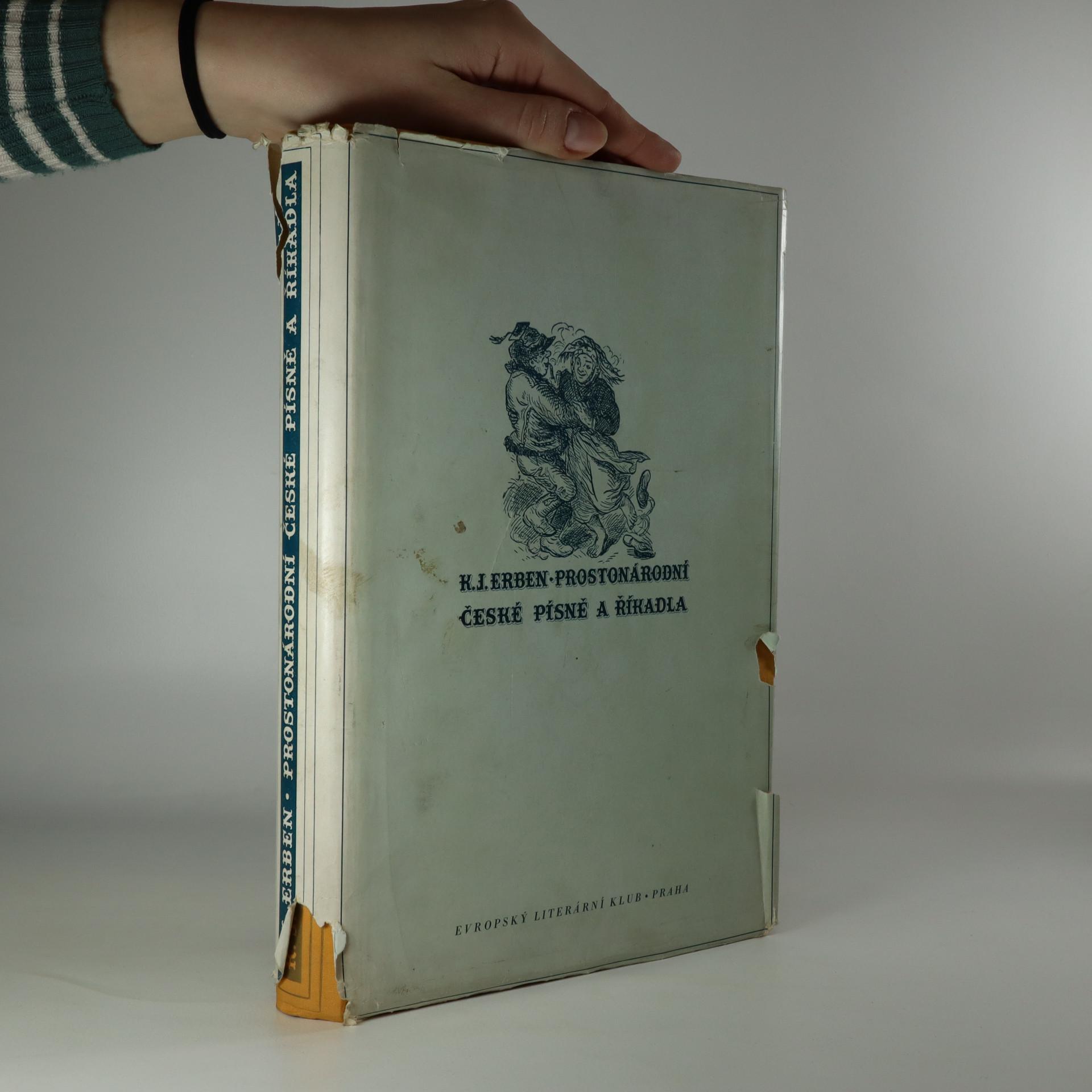 antikvární kniha Prostonárodní české písně a říkadla, 1937