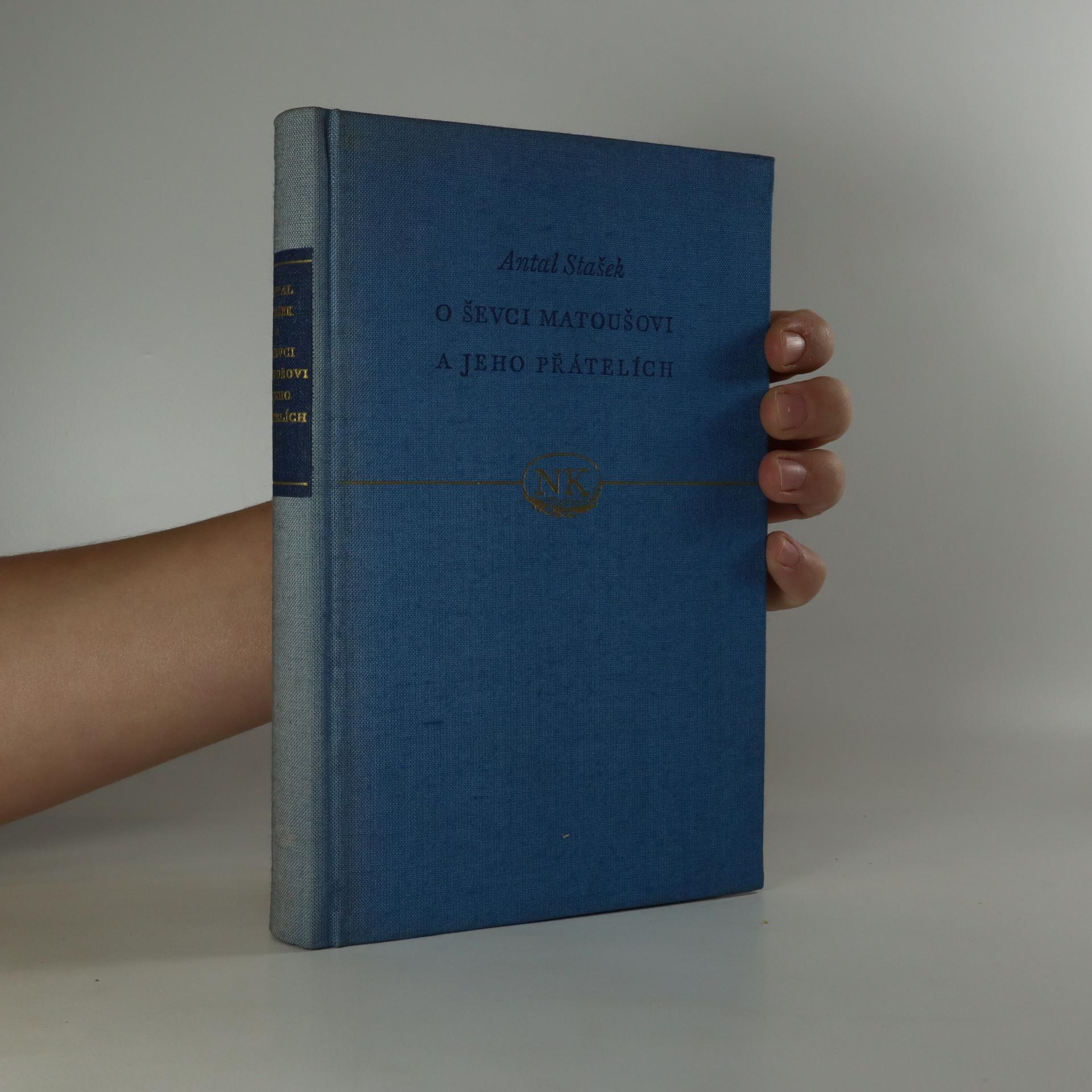 antikvární kniha O ševci Matoušovi a jeho přátelích, 1952