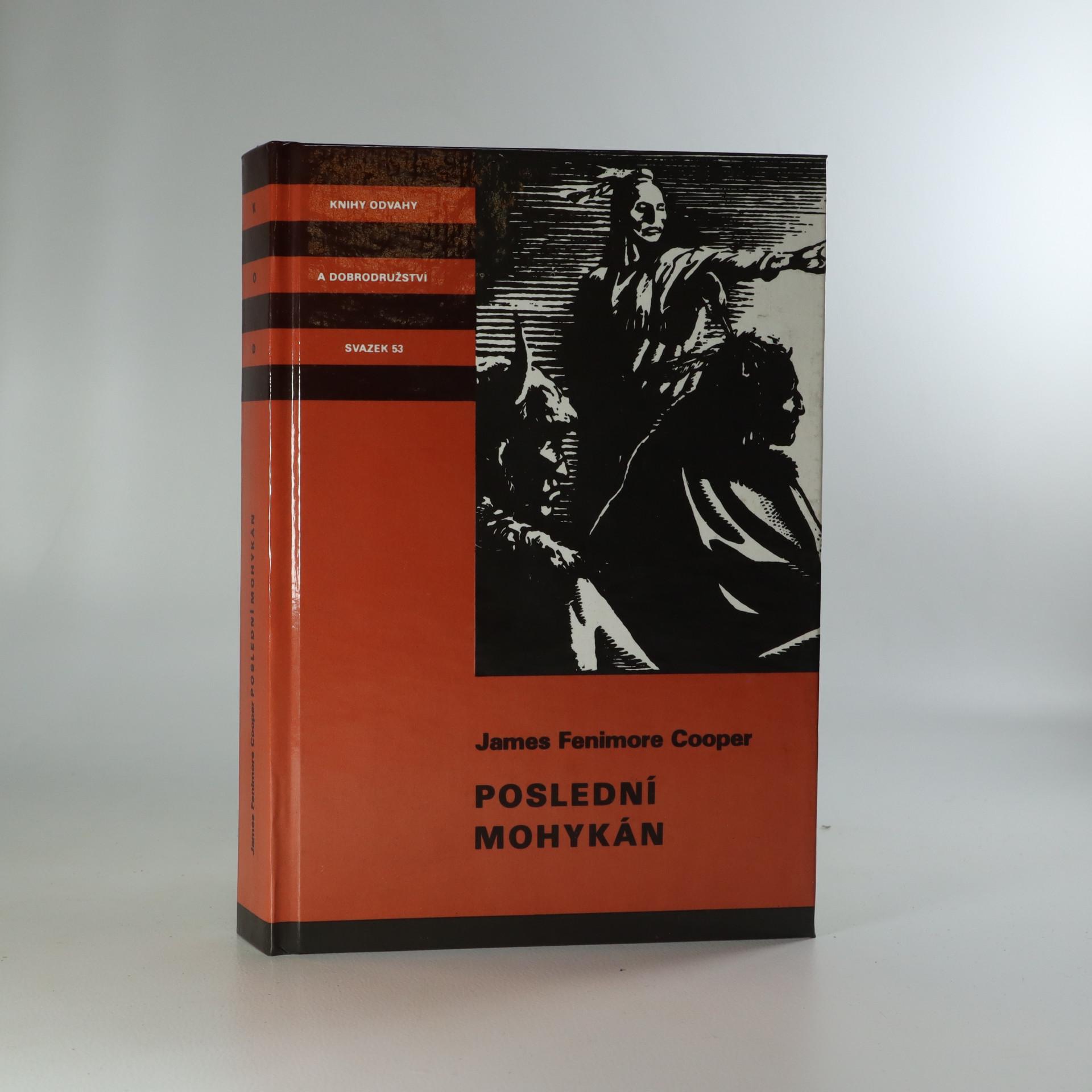 antikvární kniha Poslední Mohykán, 1991