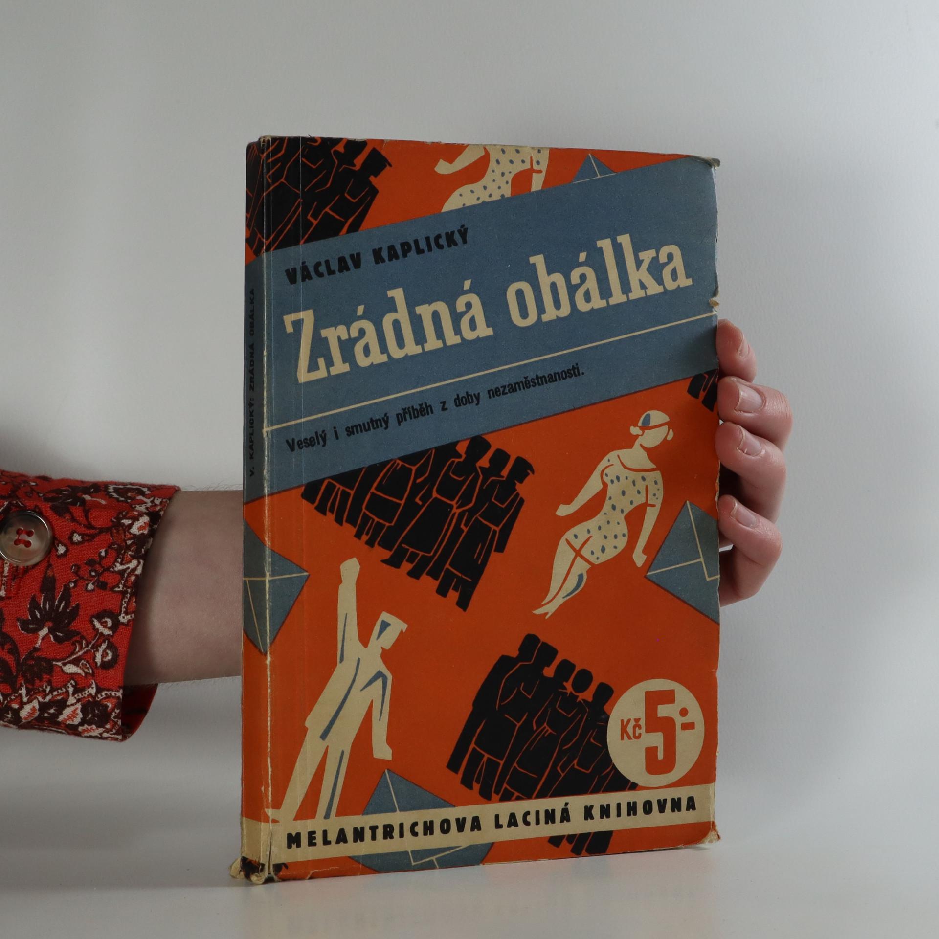 antikvární kniha Zrádná obálka, 1938