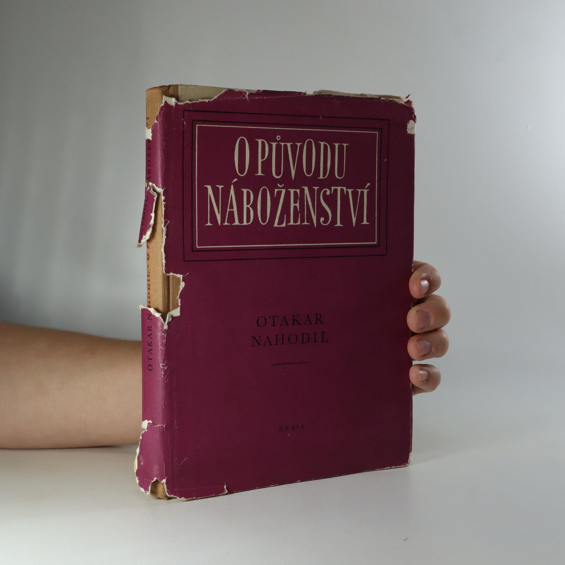 antikvární kniha O původu náboženství, 1954