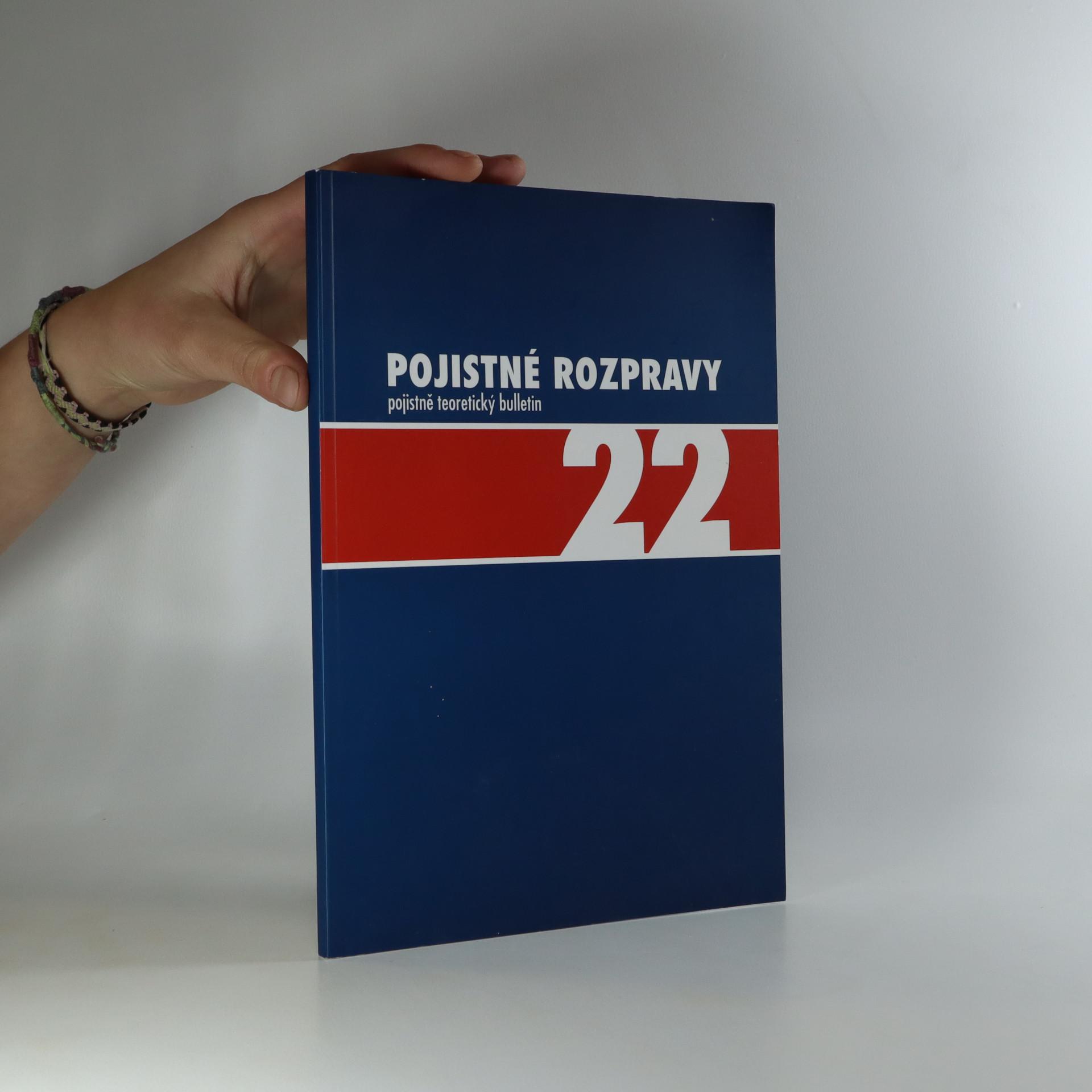 antikvární kniha Pojistné rozpravy (číslo 22), 2008