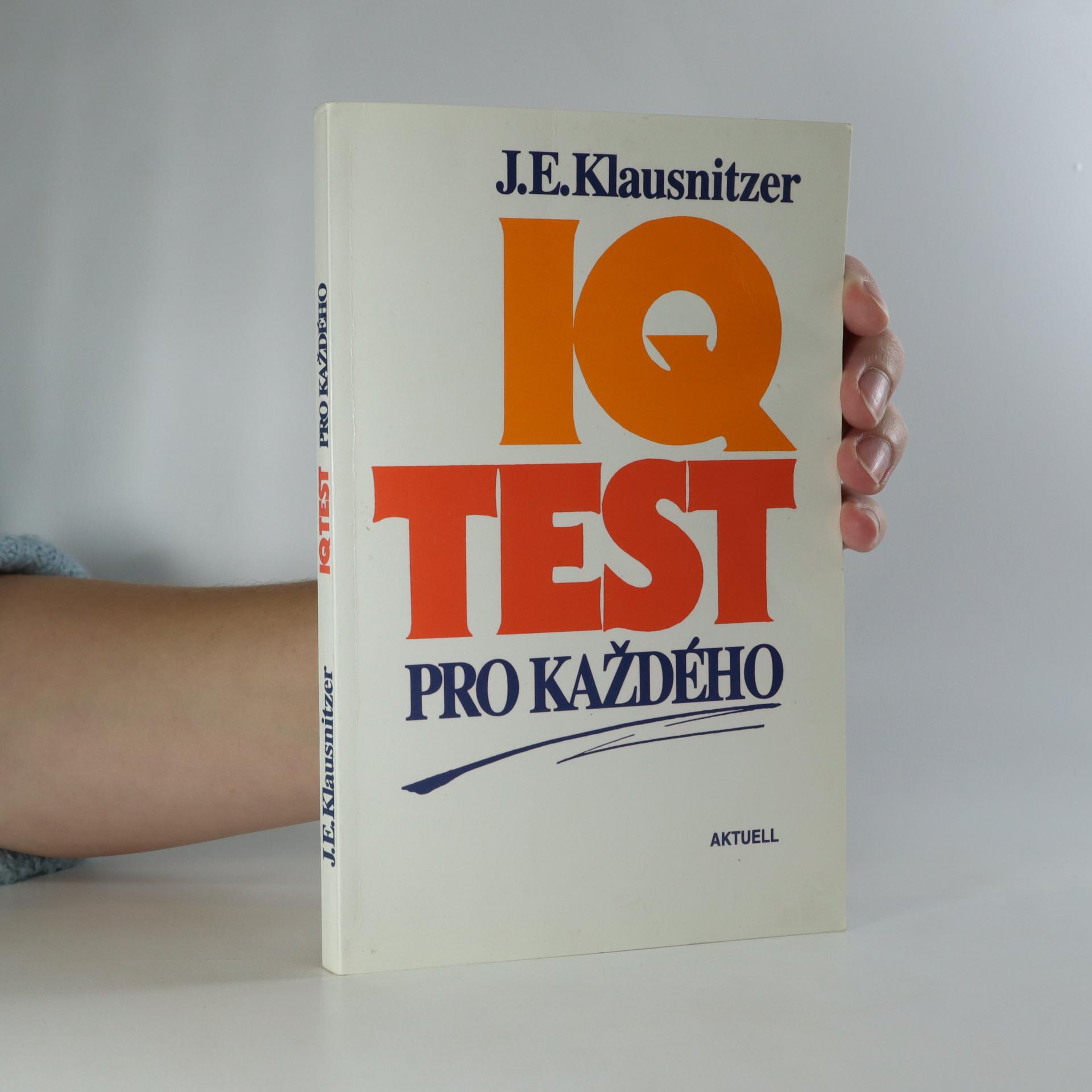 antikvární kniha IQ test pro každého, 1996