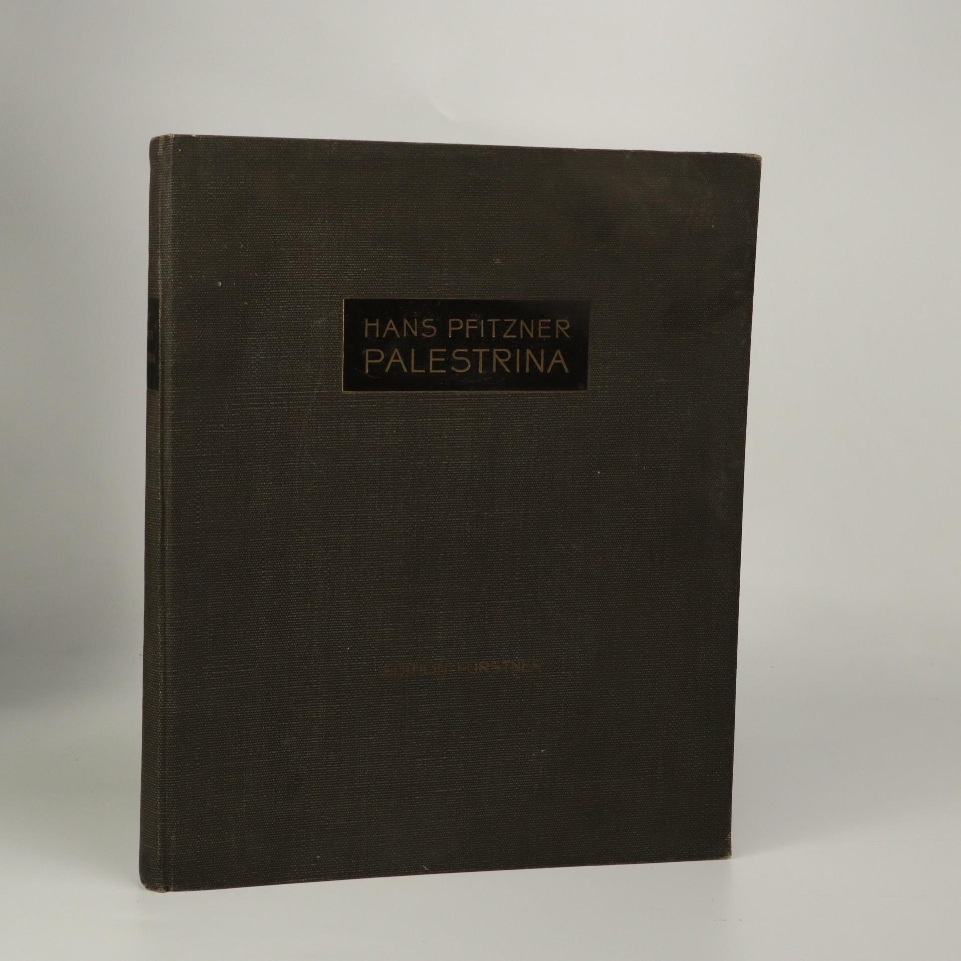antikvární kniha Palestrina Musikalische Legende, 1916