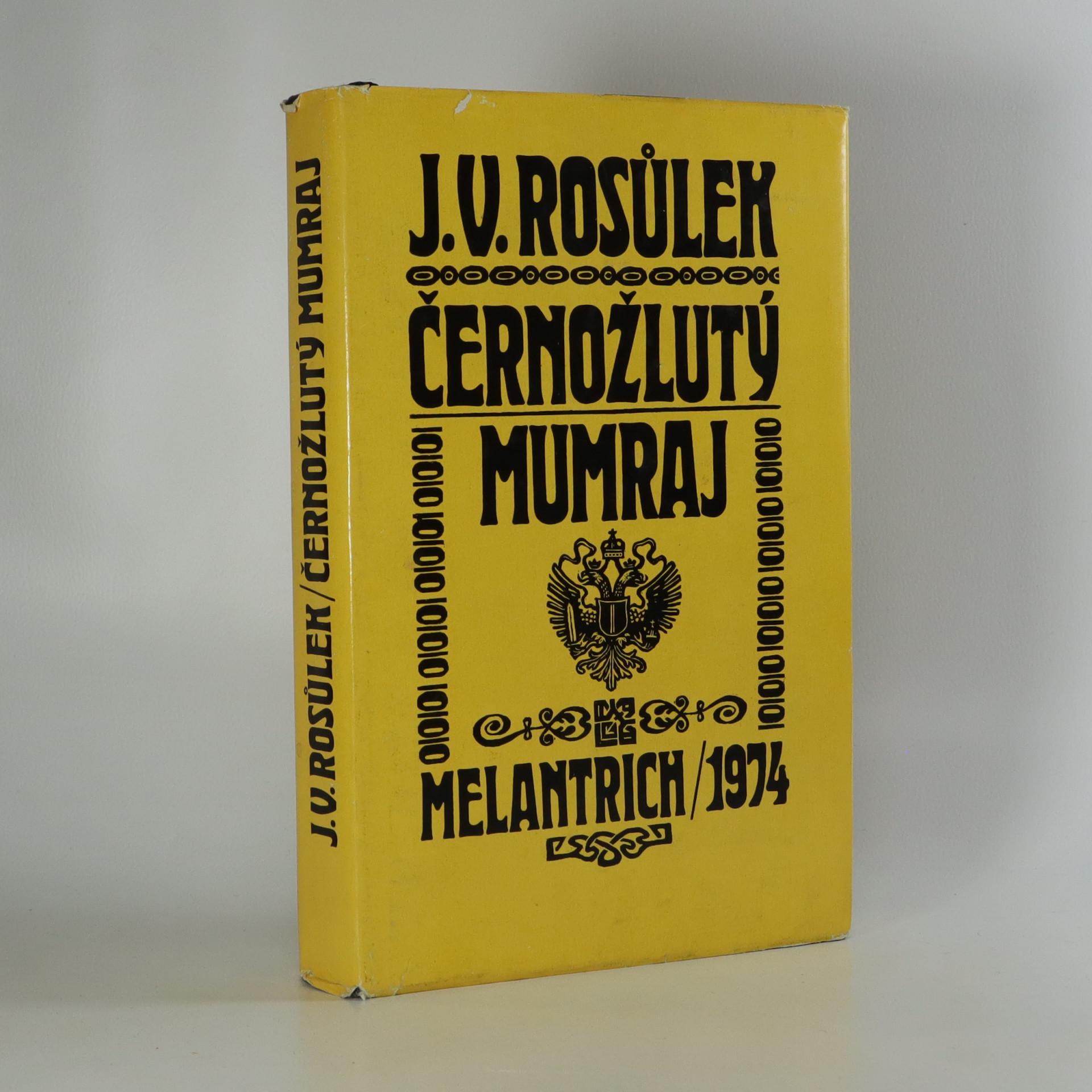 antikvární kniha Černožlutý mumraj, 1974