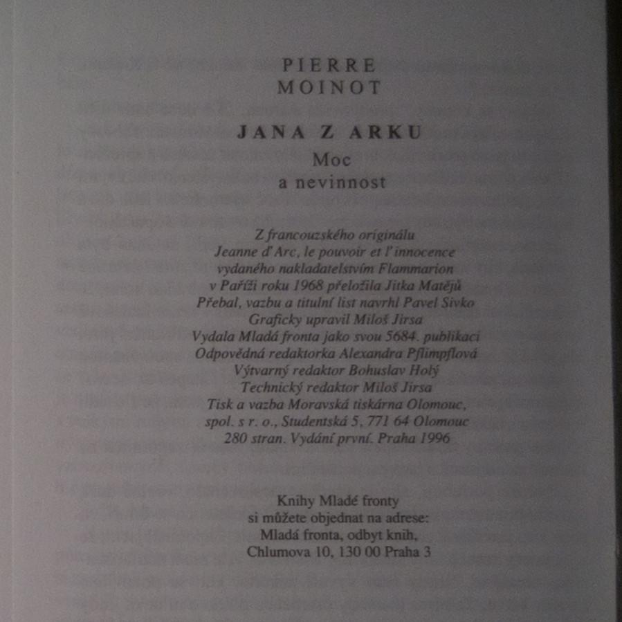 jana z arku kniha