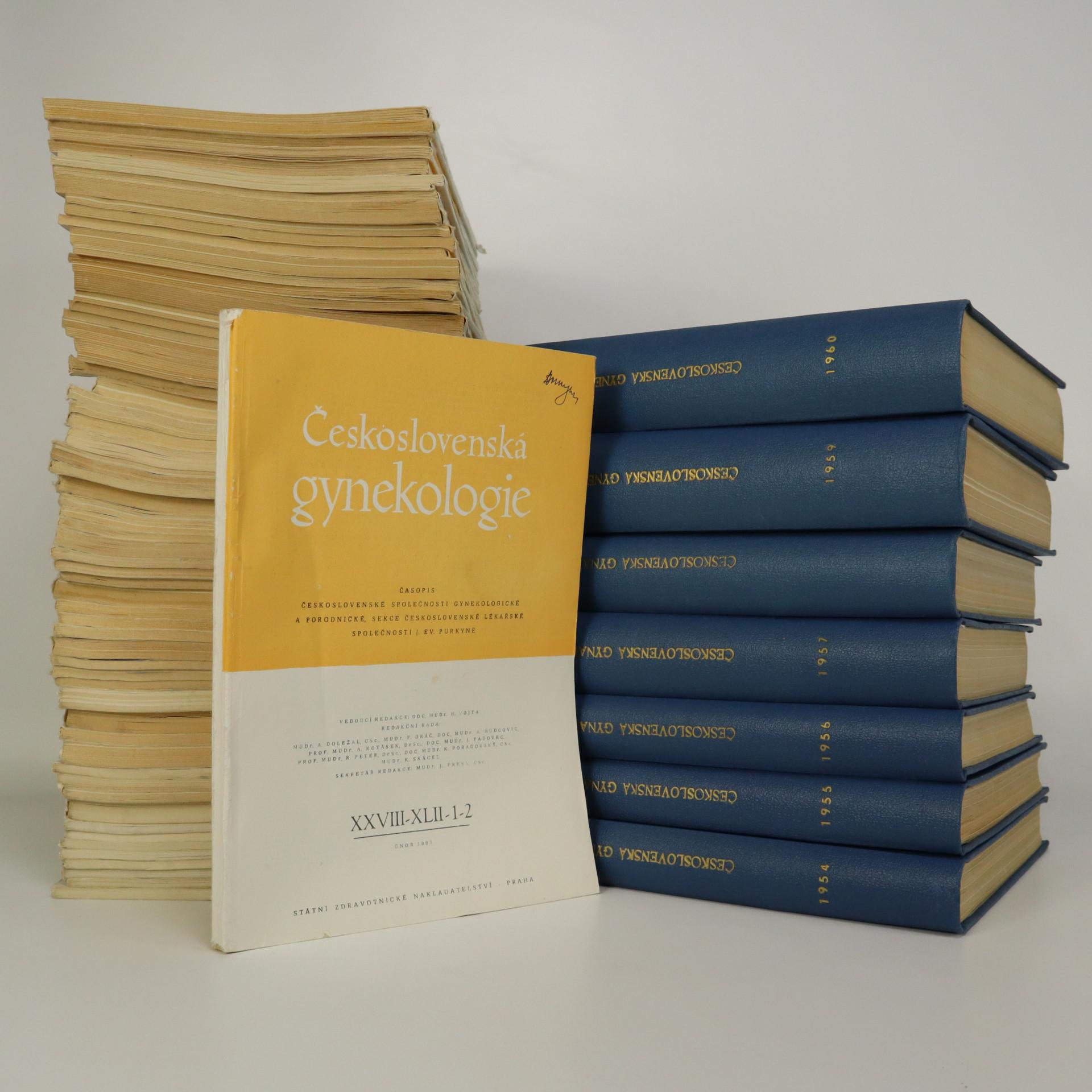 antikvární kniha Československá gynekologie. Ročník 1954 - 1968. (viz poznámka), 1954-1968
