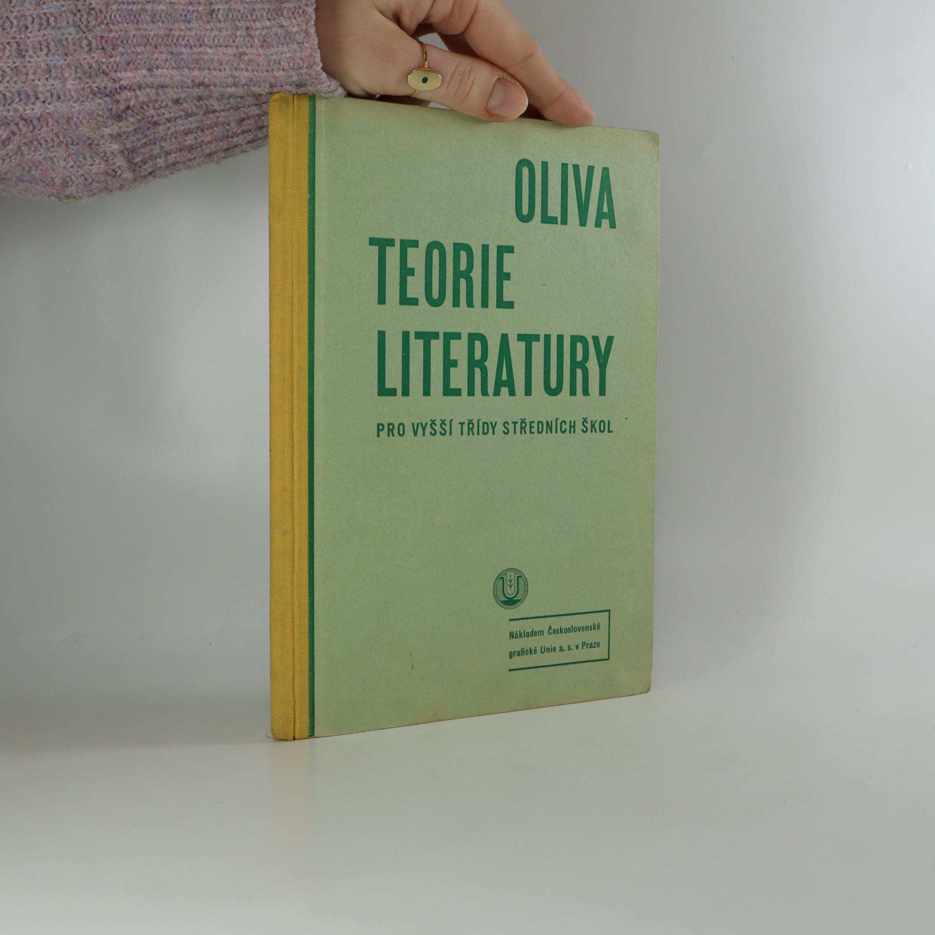 antikvární kniha Teorie literatury pro vyšší třídy středních škol, 1934