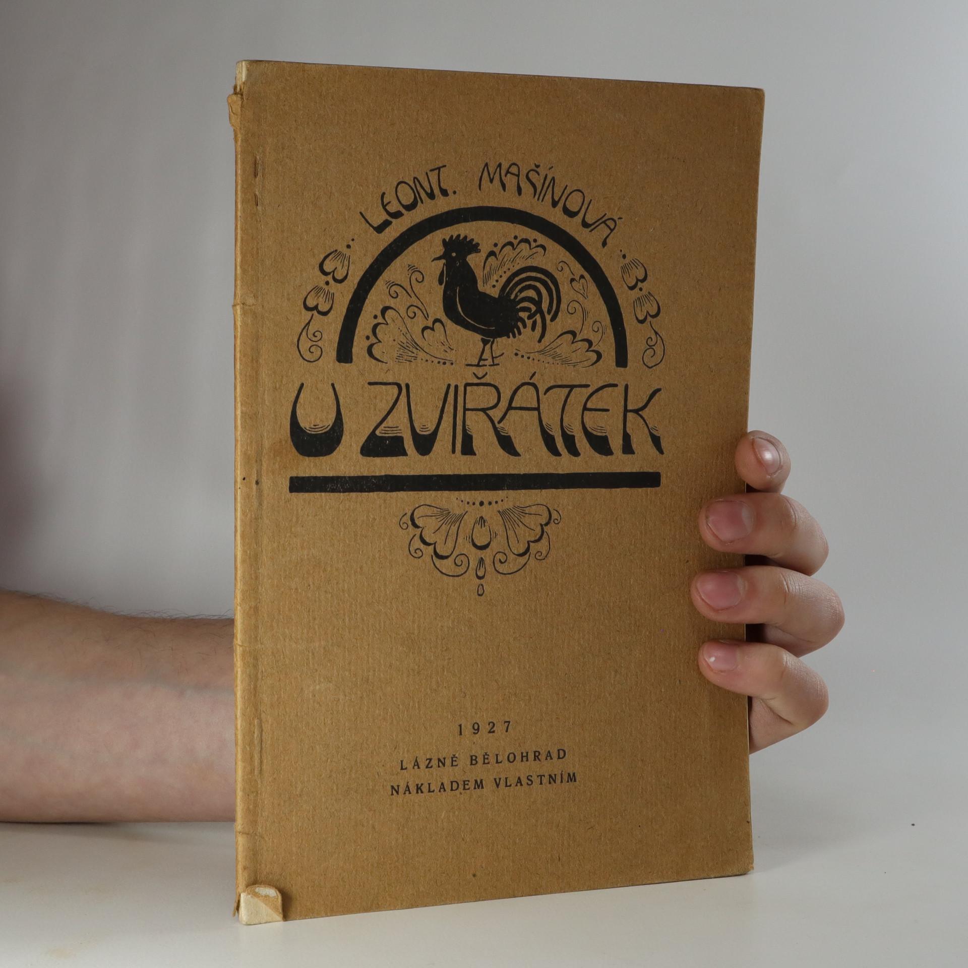 antikvární kniha U zvířátek, 1927