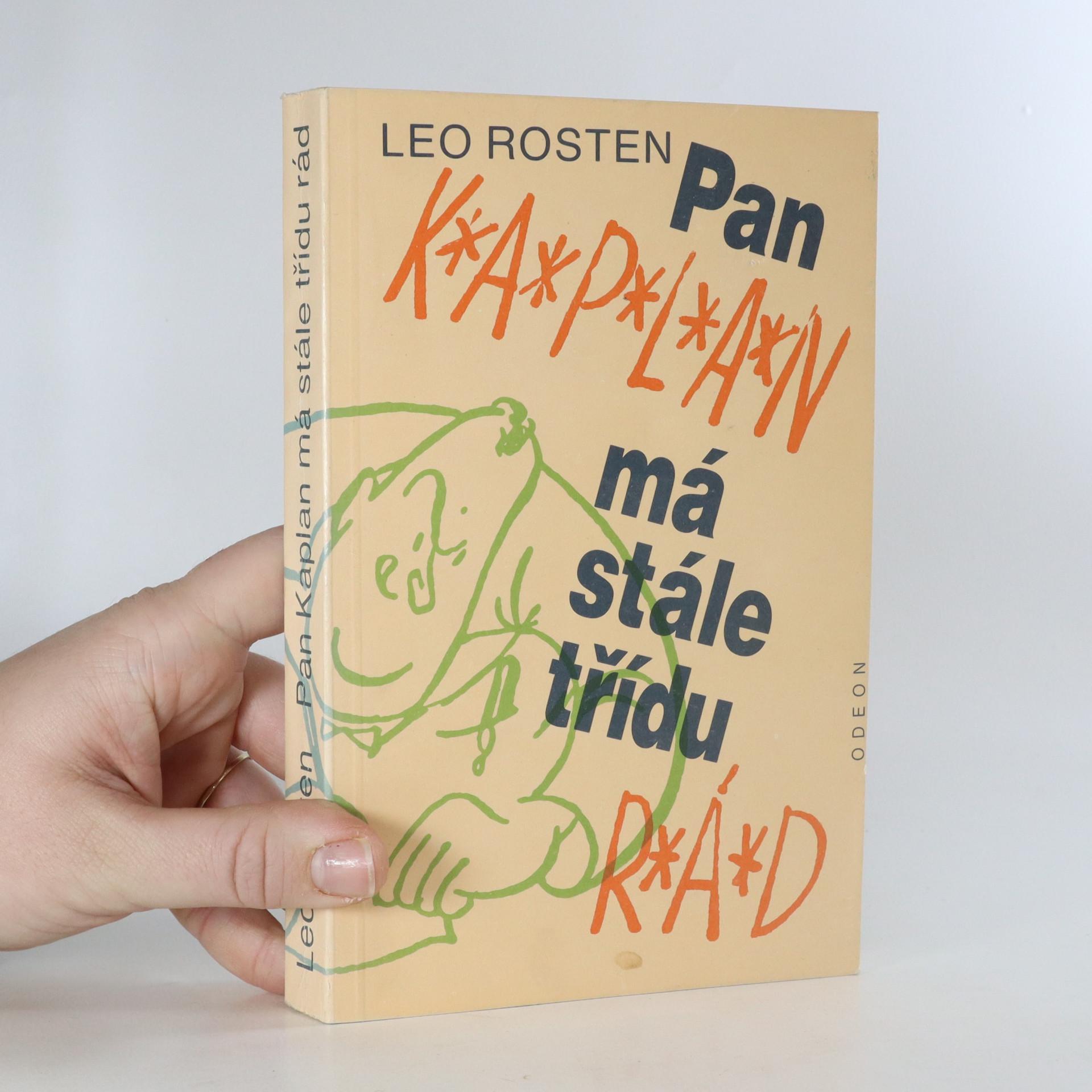 antikvární kniha Pan Kaplan má stále třídu rád, 1988