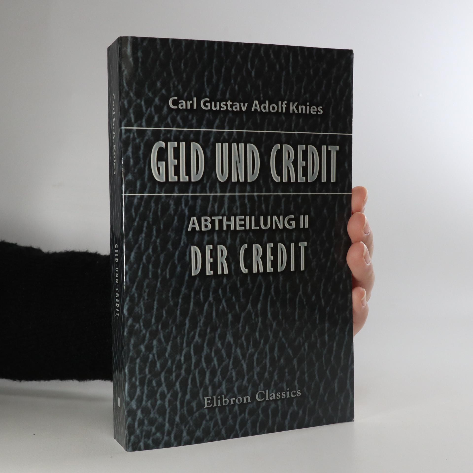 antikvární kniha Geld und Credit. Abtheilung II, neuveden