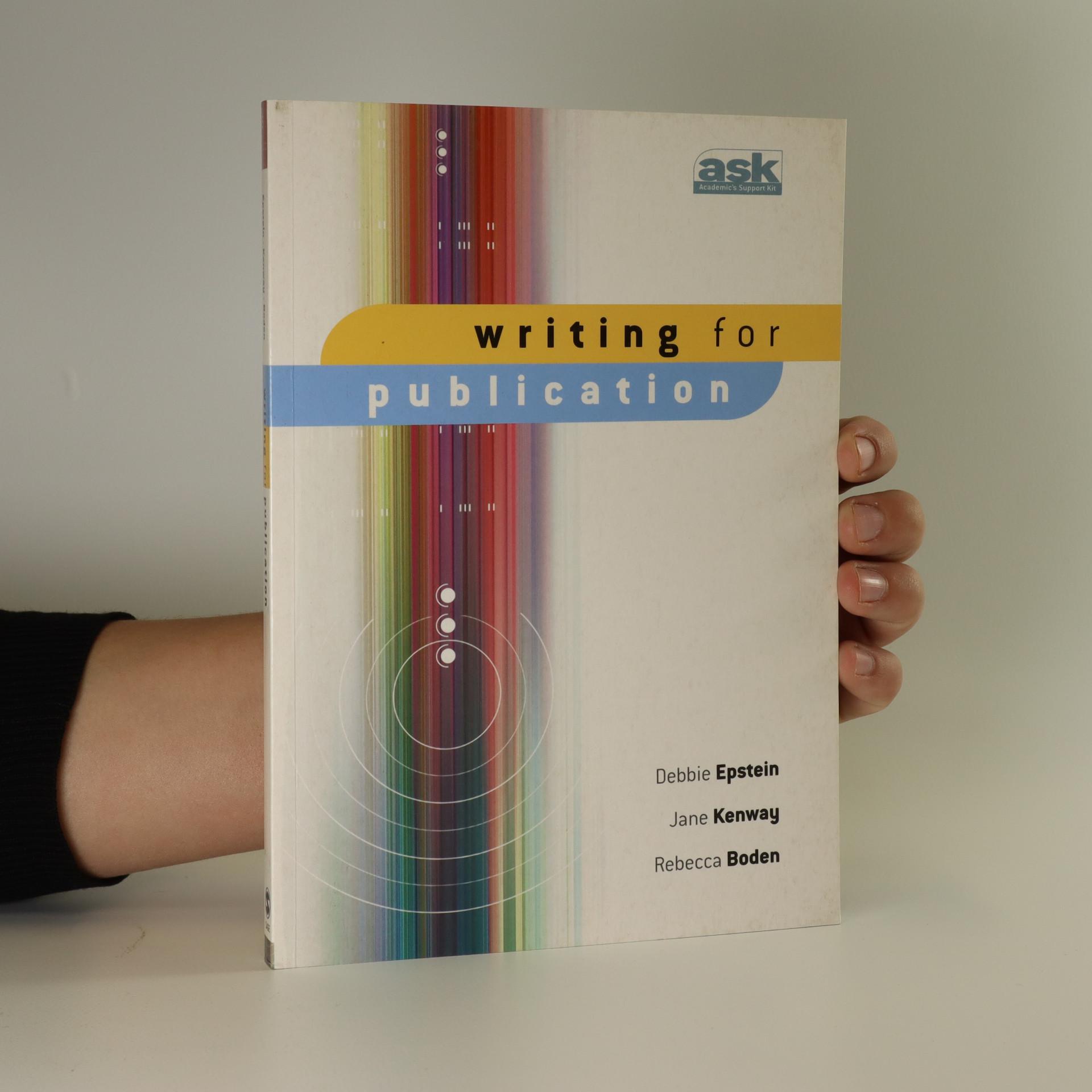 antikvární kniha Writing for publication, neuveden