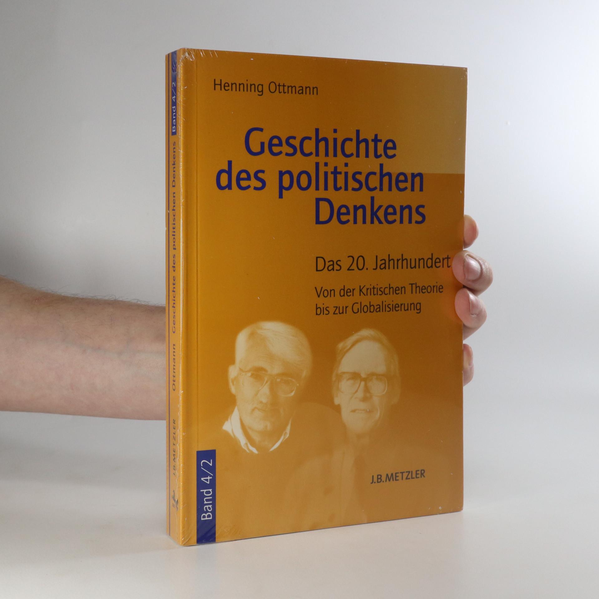 antikvární kniha Geschichte des politischen Denkens. Band 4/2, neuveden