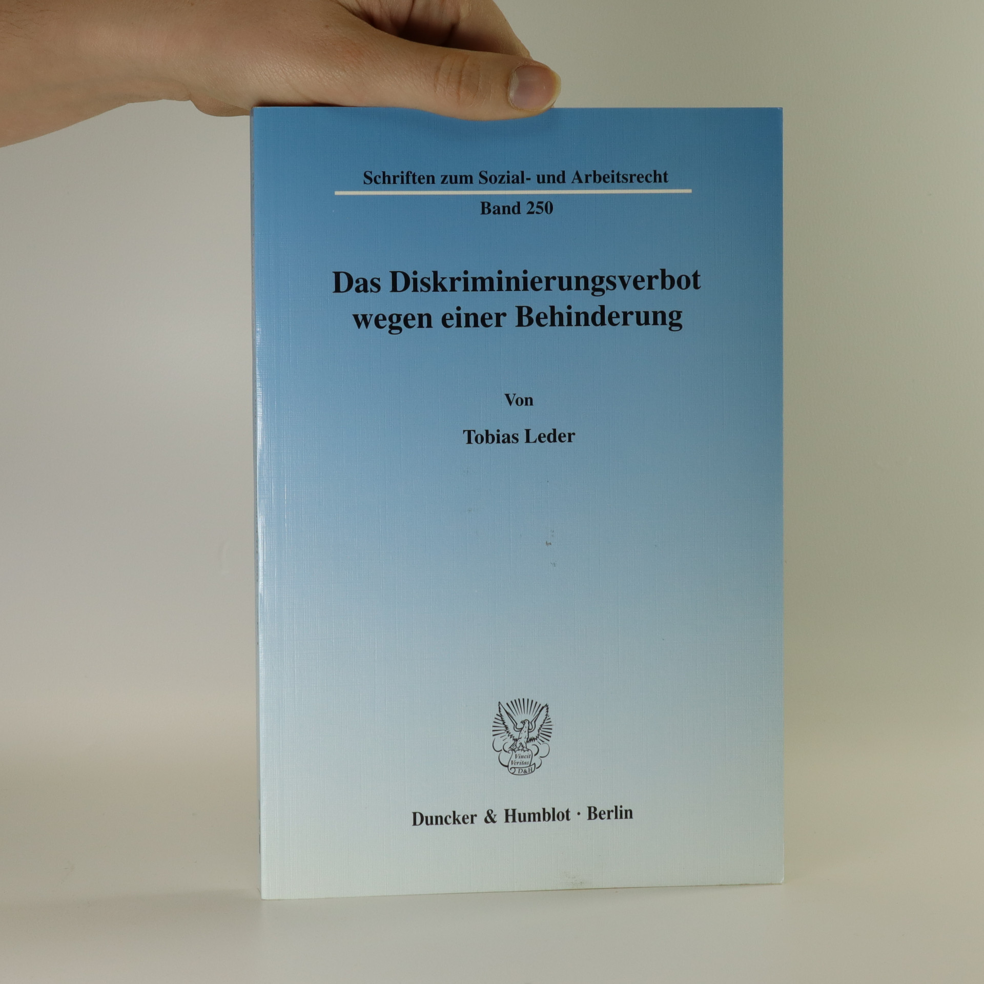 antikvární kniha Das Diskriminierungsverbot wegen einer Behinderung, neuveden