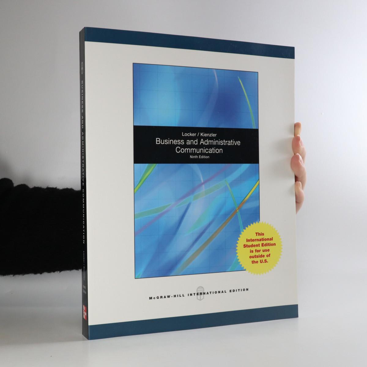 antikvární kniha Business and administrative communication, neuveden