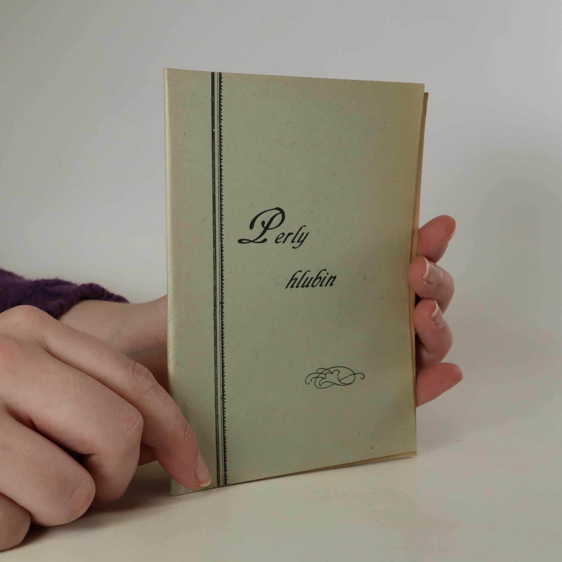 antikvární kniha Perly hlubin, neuveden