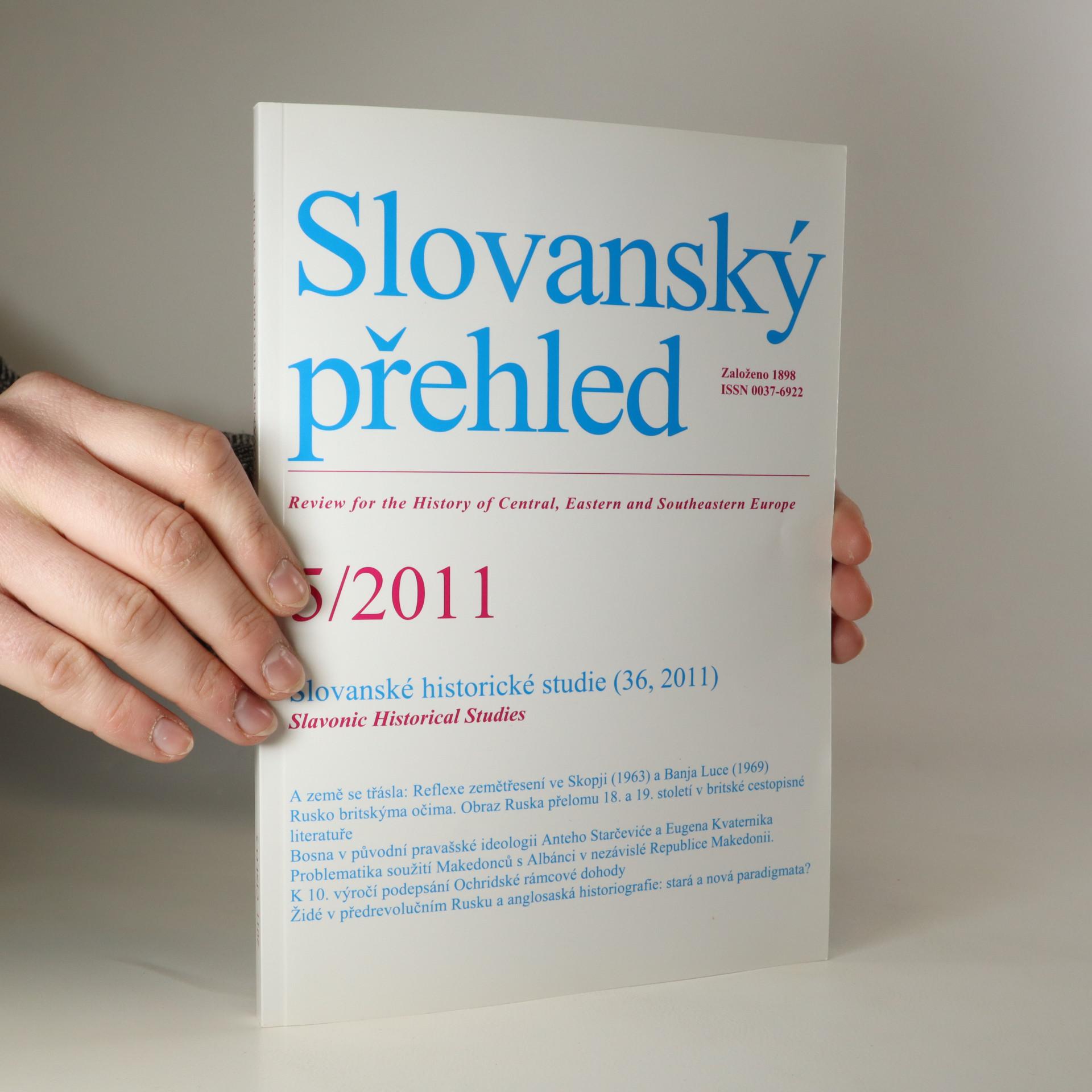 antikvární kniha Slovanský přehled. Rok 2011. Ročník 97. Číslo 5, 2011