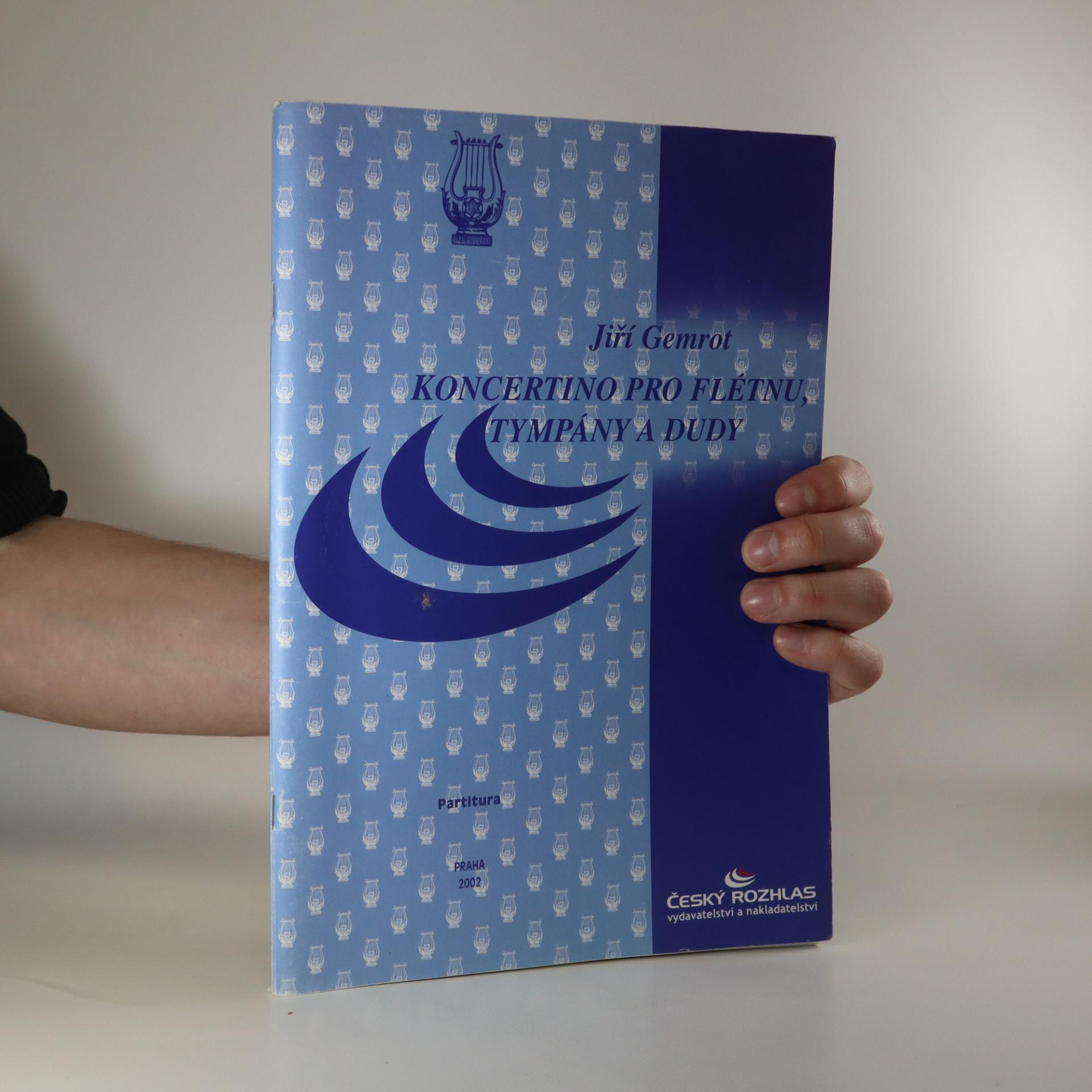antikvární kniha Koncertino pro flétnu, tympány a dudy, 2002