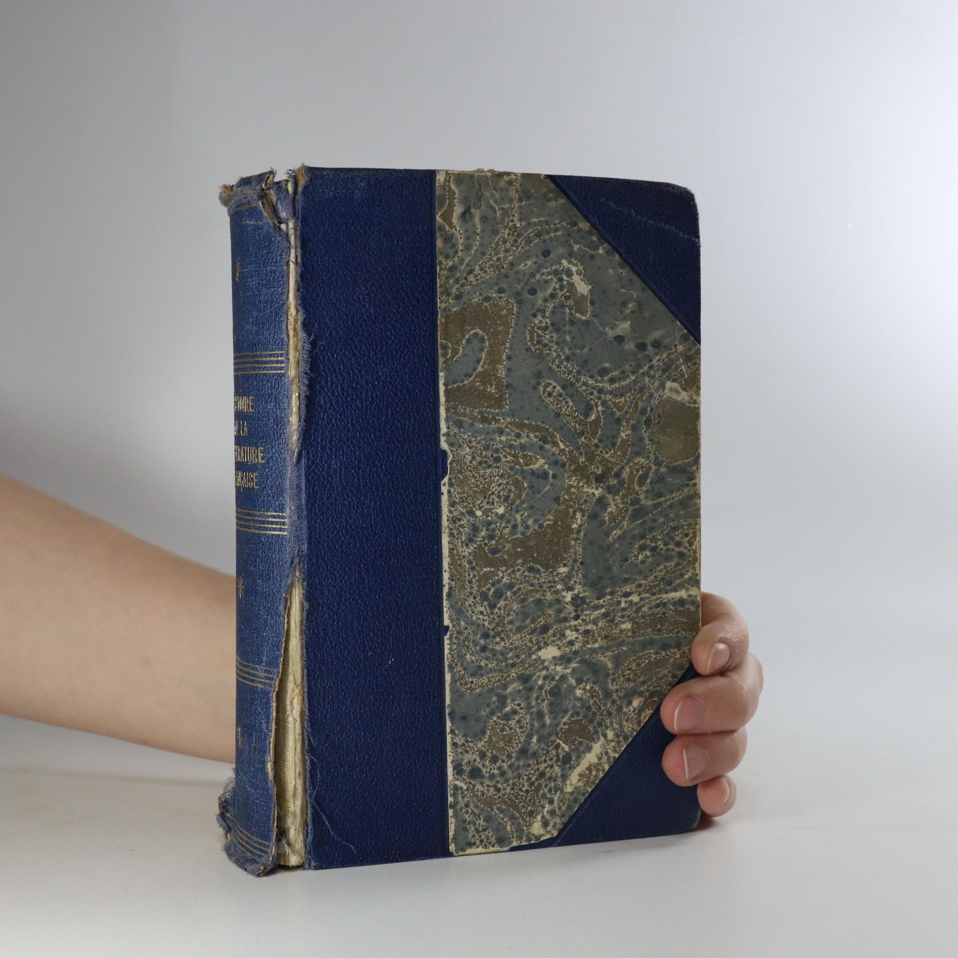 antikvární kniha Manuel illustré d'histoire de la littérature française, neuveden