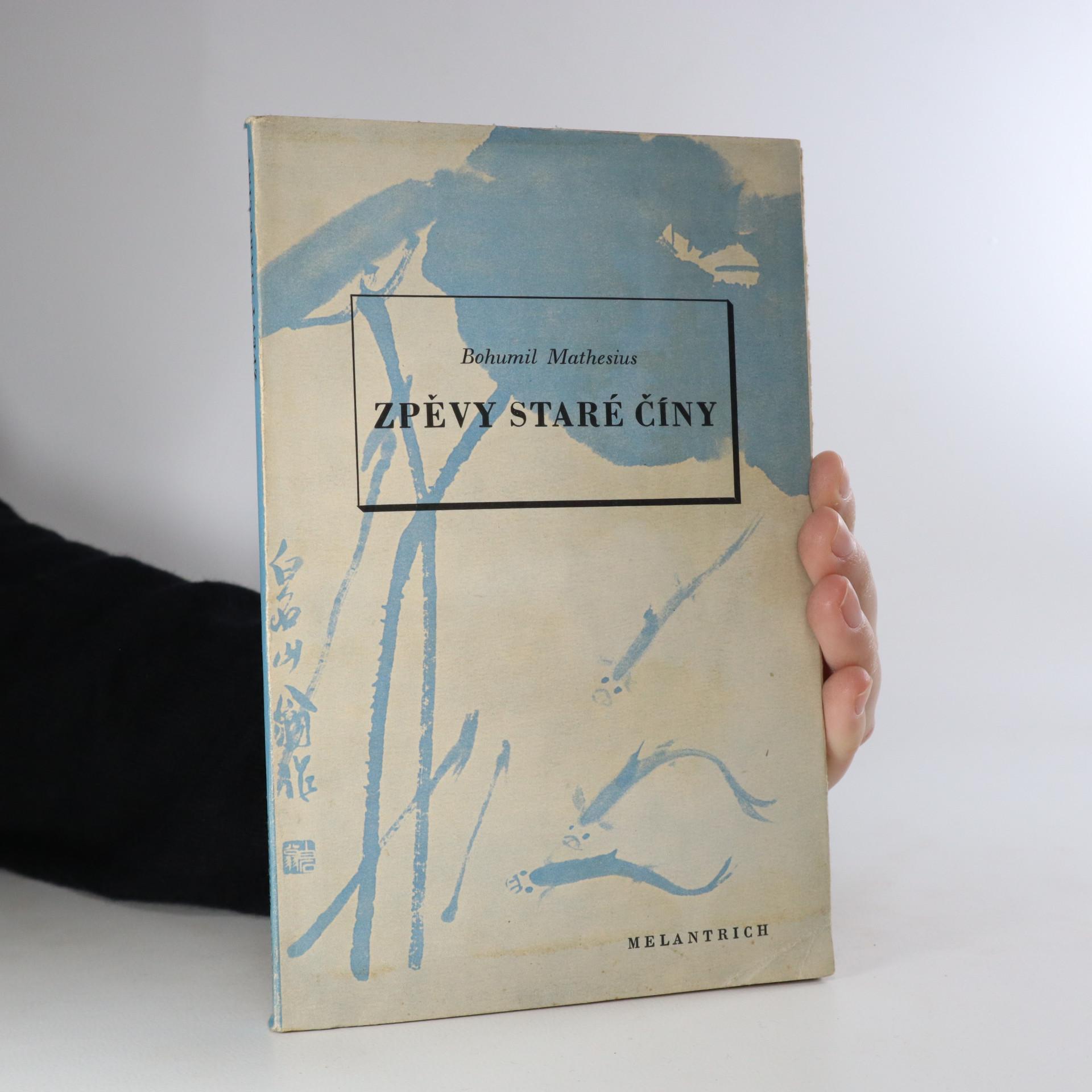 antikvární kniha Zpěvy staré Číny, 1940