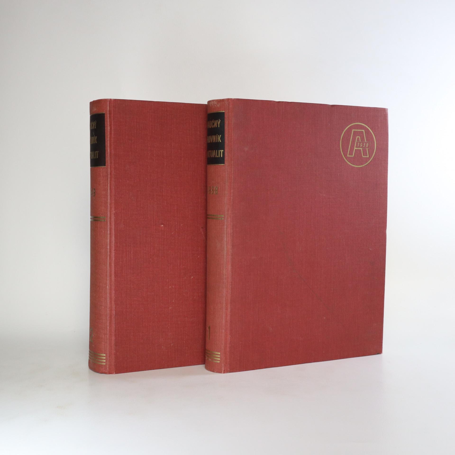 antikvární kniha Naučný slovník aktualit I. a II. díl (2 svazky), 1938,1939