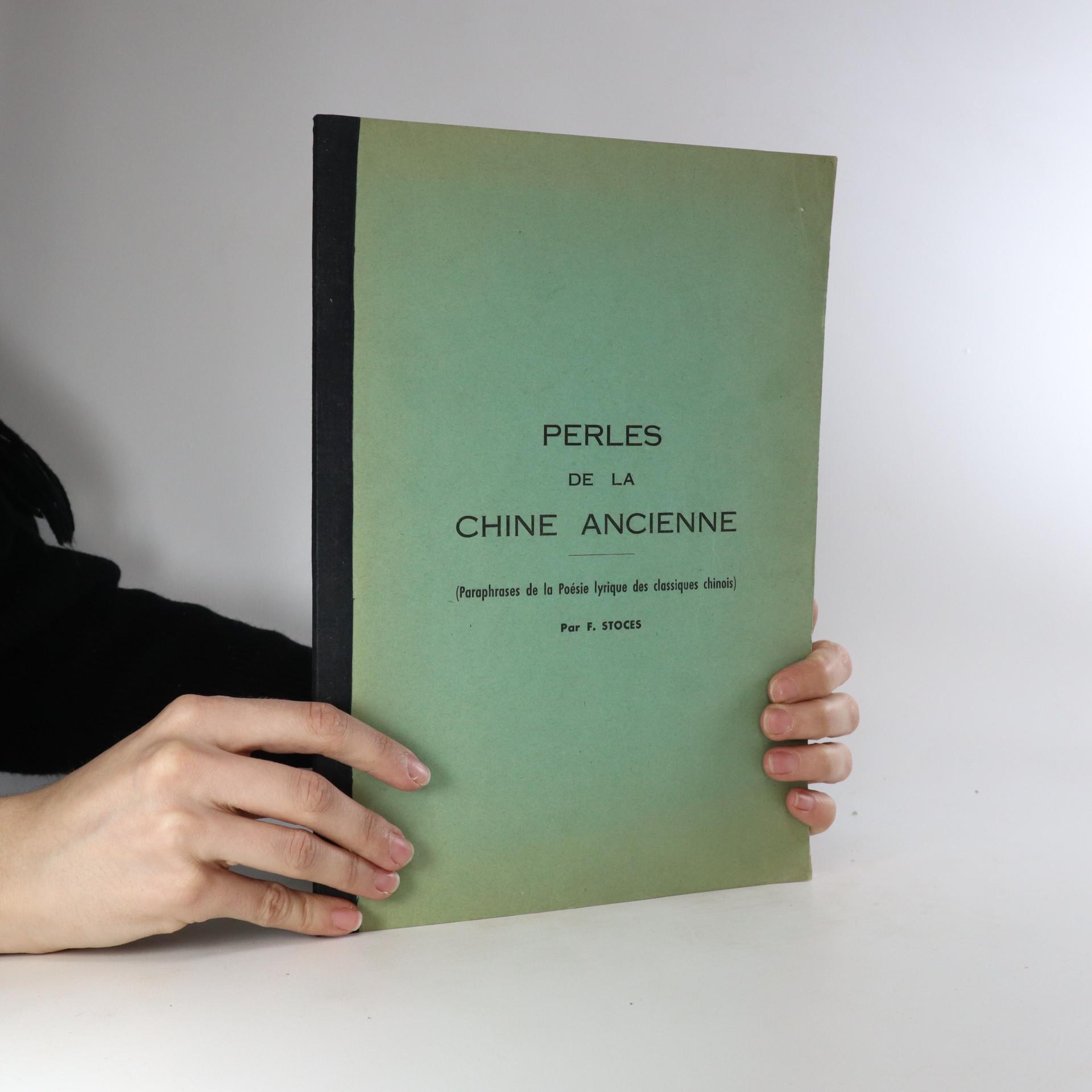 antikvární kniha Perles de la Chine ancienne, neuveden