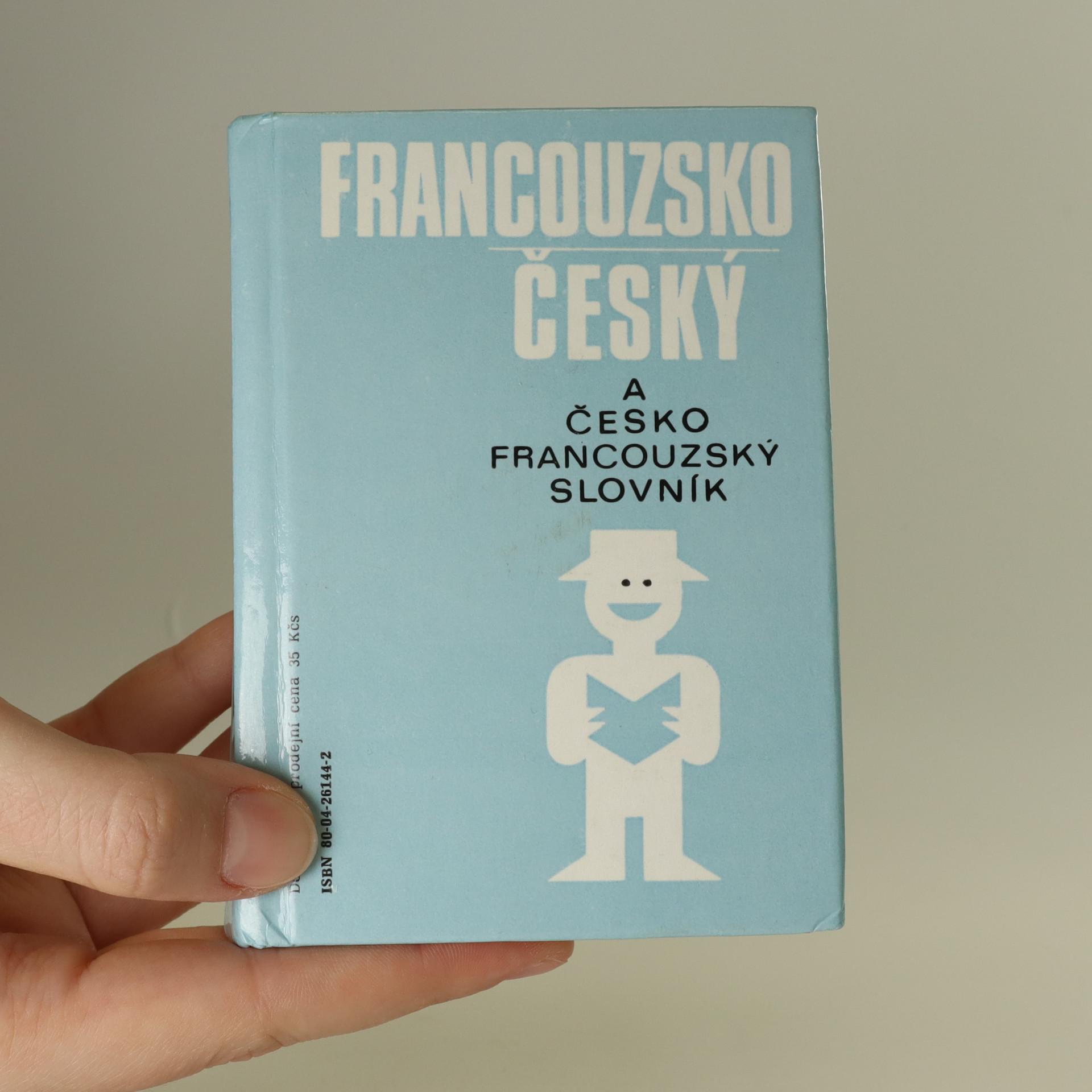 antikvární kniha Česko-francouzský, francouzsko-český slovník na cesty, 1992
